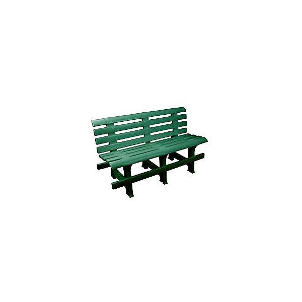Скамейка со спинкой 120х40х70, Alternativa, темно-зеленый