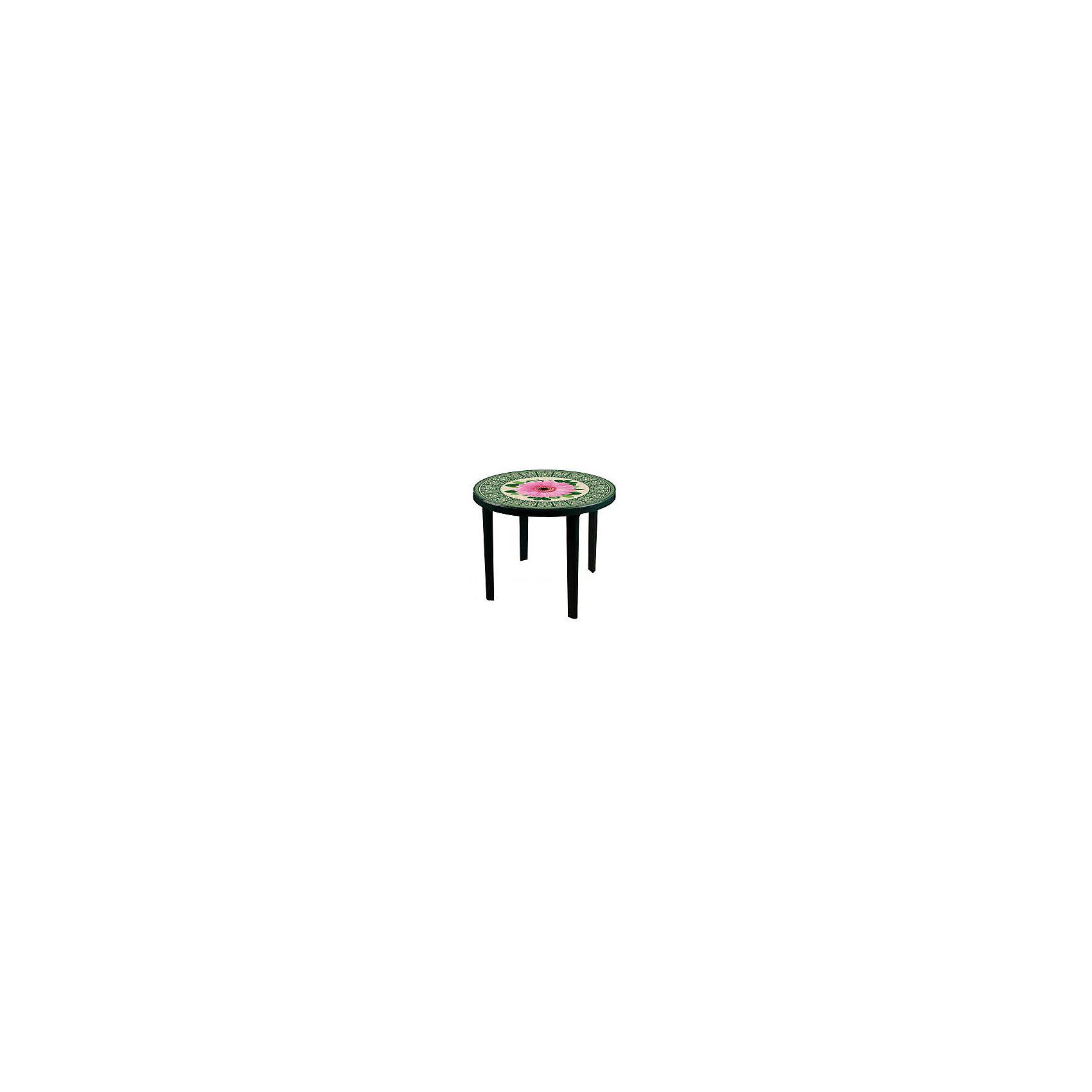 Стол Аврора круглый900х900х750, Alternativa, темно-зеленыйДетские столы и стулья<br>Стол Аврора круглый900х900х750, Alternativa (Альтернатива), темно-зеленый<br><br>Характеристики:<br><br>• круглый стол с устойчивыми ножками<br>• красивый узор на поверхности<br>• материал: пластик<br>• размер: 90х90х75 см<br>• диаметр: 90 см<br>• вес: 4,584 кг<br>• цвет: темно-зеленый<br><br>Стол Аврора станет не только приятным украшением интерьера, но и полезным предметом обихода. Изделие выполнено из качественного прочного пластика. Стол обладает высокой износостойкостью и устойчивостью. На поверхности стола изображен красивый узор с герберой.<br><br>Стол Аврора круглый900х900х750, Alternativa (Альтернатива), темно-зеленый вы можете купить в нашем интернет-магазине.<br><br>Ширина мм: 900<br>Глубина мм: 900<br>Высота мм: 750<br>Вес г: 4584<br>Возраст от месяцев: 216<br>Возраст до месяцев: 1188<br>Пол: Унисекс<br>Возраст: Детский<br>SKU: 5475665