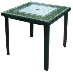 Стол Малахит квадр.800х800х740, Alternativa, тёмно-зеленый
