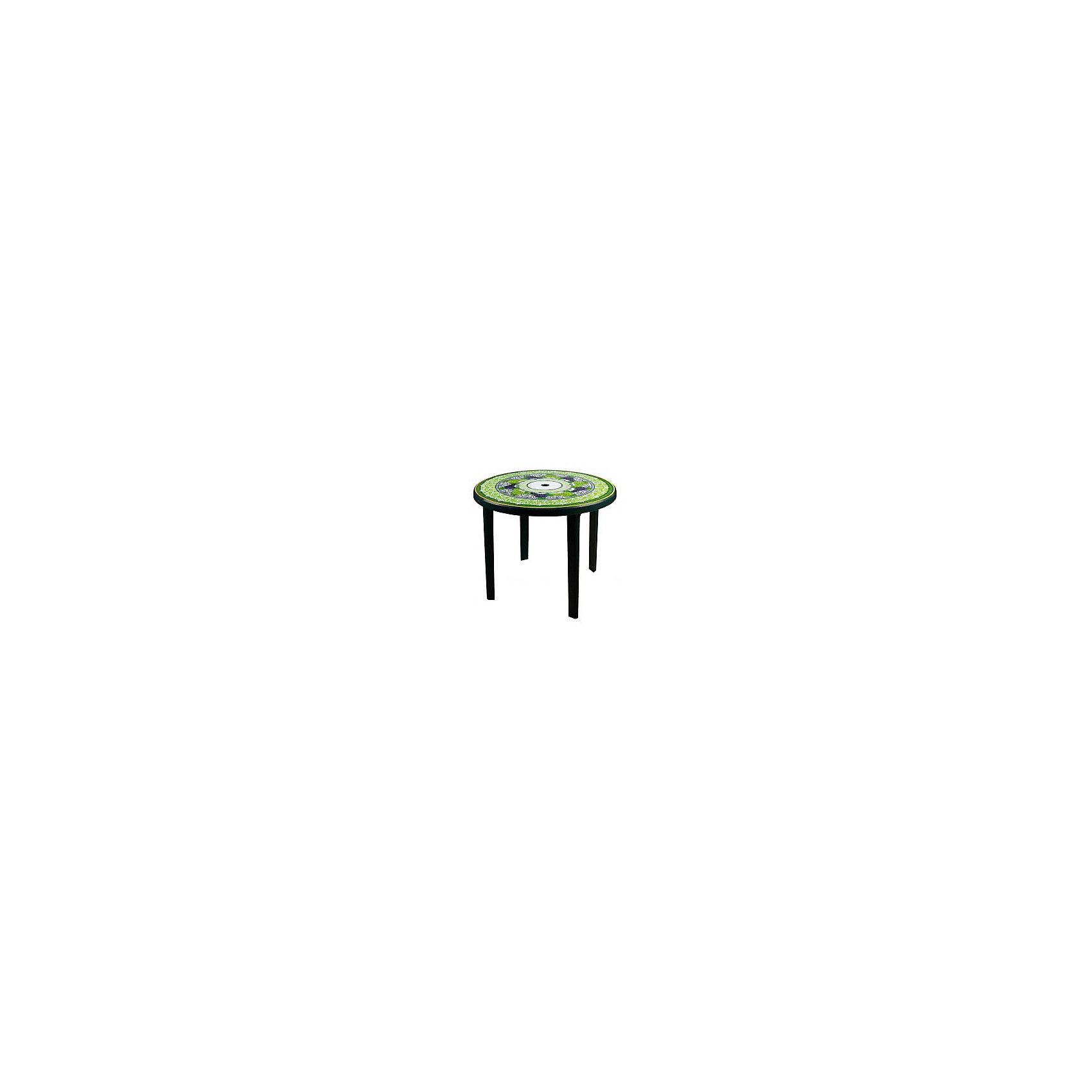 Стол Флоренция кругл900х900х750, Alternativa, тёмно-зеленыйМебель<br>Стол Флоренция кругл900х900х750, Alternativa (Альтернатива), тёмно-зеленый<br><br>Характеристики:<br><br>• яркий узор на поверхности<br>• цвет: темно-зеленый<br>• форма: круглый<br>• диаметр: 90 см<br>• размер: 90х90х75 см<br>• материал: пластик<br>• вес: 4,584 кг<br><br>Флоренция - круглый пластиковый стол с красивым узором, дополненным изображением гроздей винограда. Стол имеет хорошую устойчивость и высокую прочность. Любые загрязнения легко отмываются. Диаметр стола - 90 сантиметров. Стол Флоренция отлично подойдет и для дома, и для дачи.<br><br>Стол Флоренция кругл900х900х750, Alternativa (Альтернатива), тёмно-зеленый можно купить в нашем интернет-магазине.<br><br>Ширина мм: 900<br>Глубина мм: 900<br>Высота мм: 750<br>Вес г: 4584<br>Возраст от месяцев: 216<br>Возраст до месяцев: 1188<br>Пол: Унисекс<br>Возраст: Детский<br>SKU: 5475673