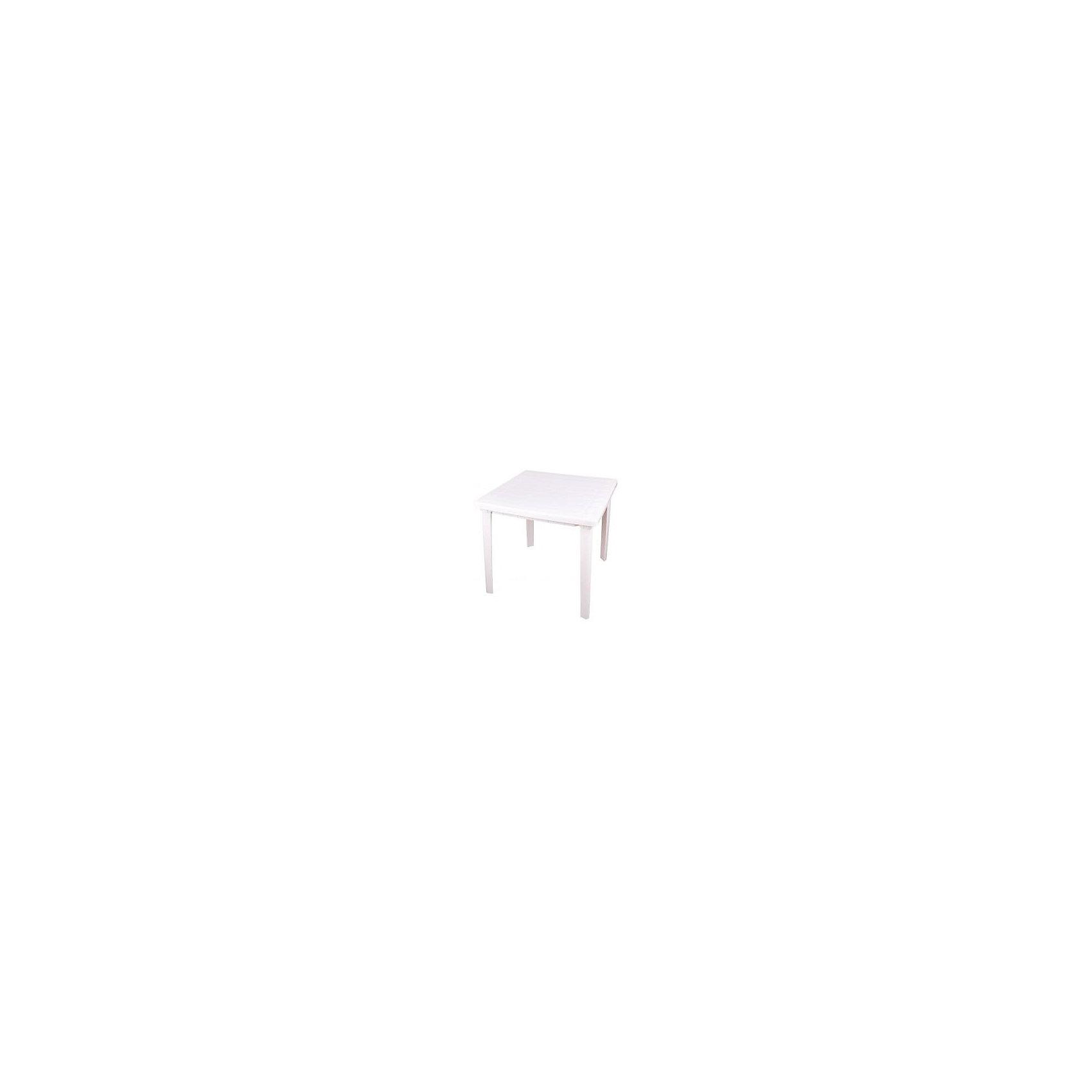 Стол квадратный 800х800х740, Alternativa, белый