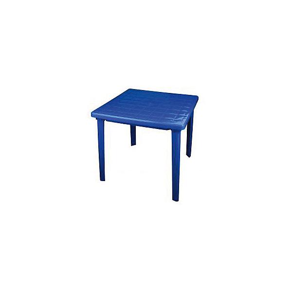 Стол квадратный 800х800х740, Alternativa, синий