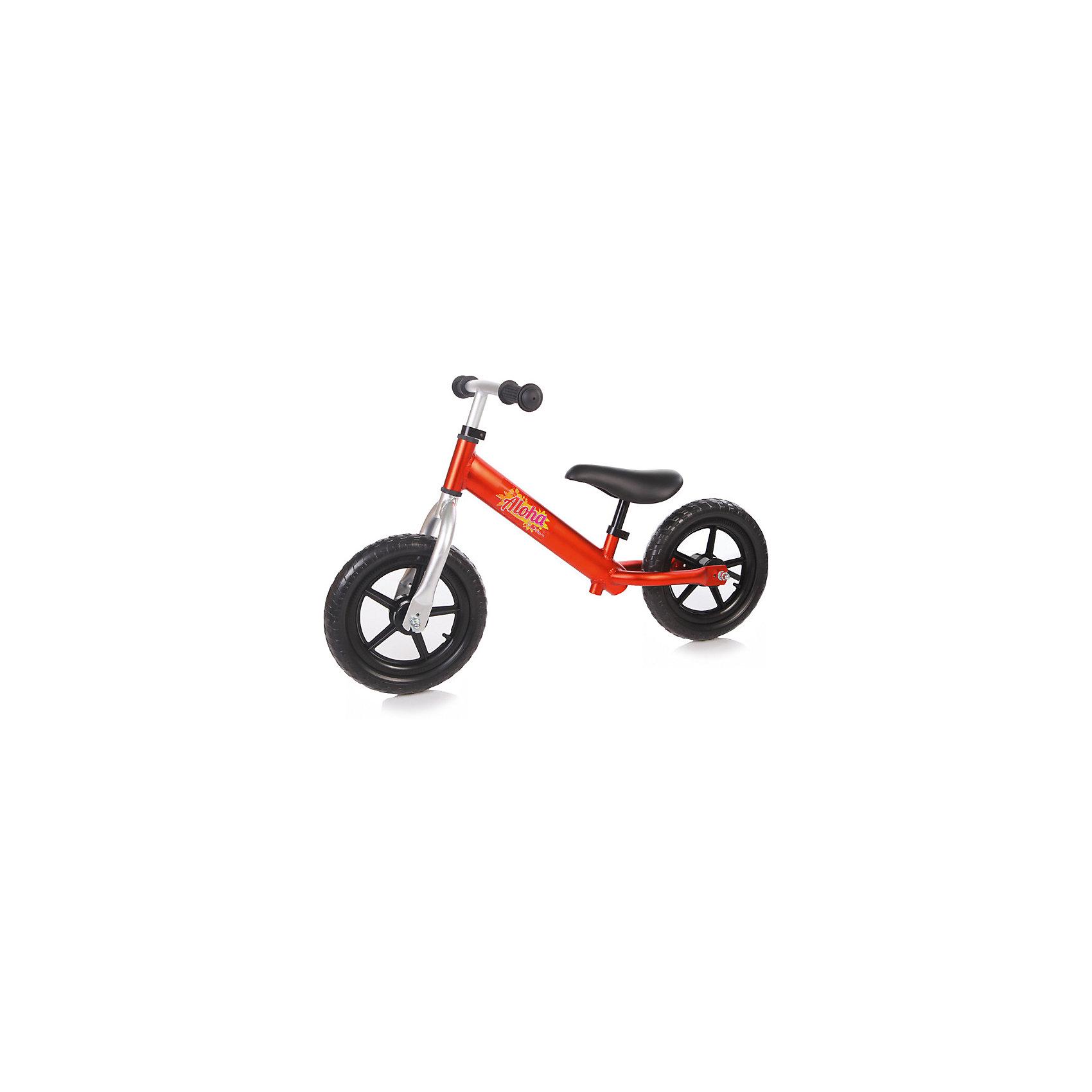 Беговел детский ALOHA, красный, JetemБеговелы<br>Jetem, Беговел детский ALOHA – беговел на 12-дюймовых колесах без тормоза и без подножки с алюминиевой рамой. Лучший способ разнообразить летнюю прогулку с ребенком. Высоту руля и сидения можно регулировать.Беговелы – это детские двухколесные велосипеды, у которых нет педалей. Они совмещают в себе черты велосипеда и самоката и помогают держать равновесие. Особенности:· 12 дюймовые колеса из пластика с покрышкой из EVA· эргономичное сидение с мягкой накладкой· алюминиевая рама· без тормоза· без подножки· сиденье регулируется по высоте· руль регулируется по высоте Характеристики:· диаметр колес — 12 дюймов·  предназначен для детей от 3 лет до 27кг·вес: 2,1кг·  размер беговела: 83х38х54см· минимальная высота руля от земли 48см·   максимальная высота руля от земли 56см<br><br>Ширина мм: 630<br>Глубина мм: 160<br>Высота мм: 290<br>Вес г: 2700<br>Возраст от месяцев: 24<br>Возраст до месяцев: 72<br>Пол: Унисекс<br>Возраст: Детский<br>SKU: 5475691