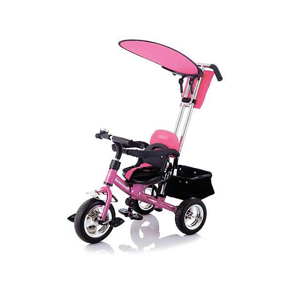 Велосипед трехколесный Lexus Trike Next Generation, розовый, JetemВелосипеды и аксессуары<br>Характеристики товара:<br><br>• возраст: от 1,5 лет;<br>• максимальная нагрузка: 25 кг;<br>• материал: пластик, металл;<br>• материал колес: резиновые;<br>• диаметр переднего колеса: 25 см;<br>• диаметр задних колес: 21,5 см;<br>• размер велосипеда: 86х50х100 см;<br>• вес велосипеда: 9 кг;<br>• размер упаковки: 45х55х27 см;<br>• вес упаковки: 10,7 кг;<br>• страна производитель: Китай.<br><br>Велосипед трехколесный Jetem Lexus Trike Next Generation розовый — детский велосипед с удобным эргономичным сидением и ручкой-толкателем для родителей. Когда ребенок только учится кататься, родители могут самостоятельно катать его при помощи ручки и помогать ему осваивать навыки катания на велосипеде. <br><br>За безопасность отвечают 5-ти точечные ремни безопасности, удерживающие ребенка в кресле, и съемный бампер. Сидение двигается вперед и назад, что позволяет уменьшить или увеличить расстояние до педалей по мере роста малыша. Небольшой козырек создает тень и защищает от солнца.<br><br>На родительскую ручку крепится кармашек для необходимых маме вещей, документов, телефона, ключей. Сзади расположена вместительная корзина для покупок, вещей, игрушек. <br><br>Велосипед трехколесный Jetem Lexus Trike Next Generation розовый можно приобрести в нашем интернет-магазине.<br>Ширина мм: 580; Глубина мм: 260; Высота мм: 450; Вес г: 11000; Возраст от месяцев: 24; Возраст до месяцев: 60; Пол: Женский; Возраст: Детский; SKU: 5475692;