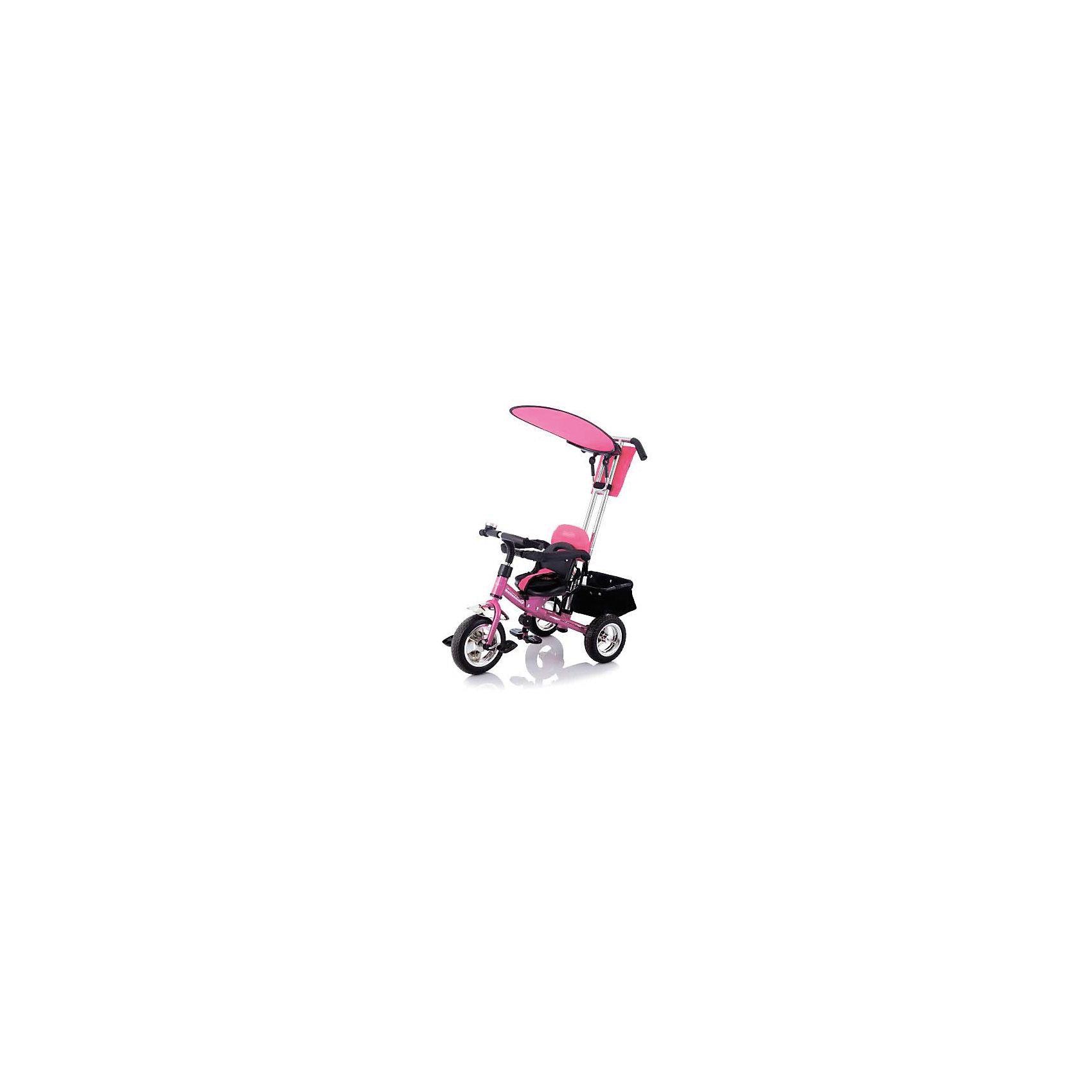Велосипед трехколесный Lexus Trike Next Generation, розовый, JetemВелосипеды детские<br>Jetem Lexus Trike Next Generation — это детский велосипед с ручкой-толкателем для родителя. Одна из лучших моделей по соотношению «цена-качество». Главная «фишка» Лексуса — это сидение с мягкими накладками, которое можно регулировать в 3 положениях. Седло двигается вперед-назад, увеличивая расстояние до педали по мере того, как растет нога ребенка.Сидя на велосипеде, ребенок будет в полной безопасности. За это отвечают 5-точечные ремни. Они надежно зафиксируют малыша в кресле и не дадут ему выпасть. Кроме педалей рама оснащена еще и двумя подножками-топталками с ребристой поверхностью. Руль очень удобен, а грипсы не натирают нежную кожу малыша. На руле есть звоночек.Для комфорта мамы сзади закреплена корзина с жестким дном, куда можно поставить сумку или сложить покупки. Корзина очень прочная и выдерживает солидный вес. Ручка-толкатель оснащена надежным поворотным механизмом. Управлять этим велосипедом так же просто, как и прогулочной коляской.Характеристики:• Размер велосипеда: 86х50х100 см.• Диаметр переднего колеса — 25 см.• Диаметр заднего колеса — 21,5 см.• Максимальный вес: 9 кг.• Предназначен для детей от 1,5 года до 3-4 лет (до 25 кг).<br><br>Ширина мм: 580<br>Глубина мм: 260<br>Высота мм: 450<br>Вес г: 11000<br>Возраст от месяцев: 24<br>Возраст до месяцев: 60<br>Пол: Женский<br>Возраст: Детский<br>SKU: 5475692