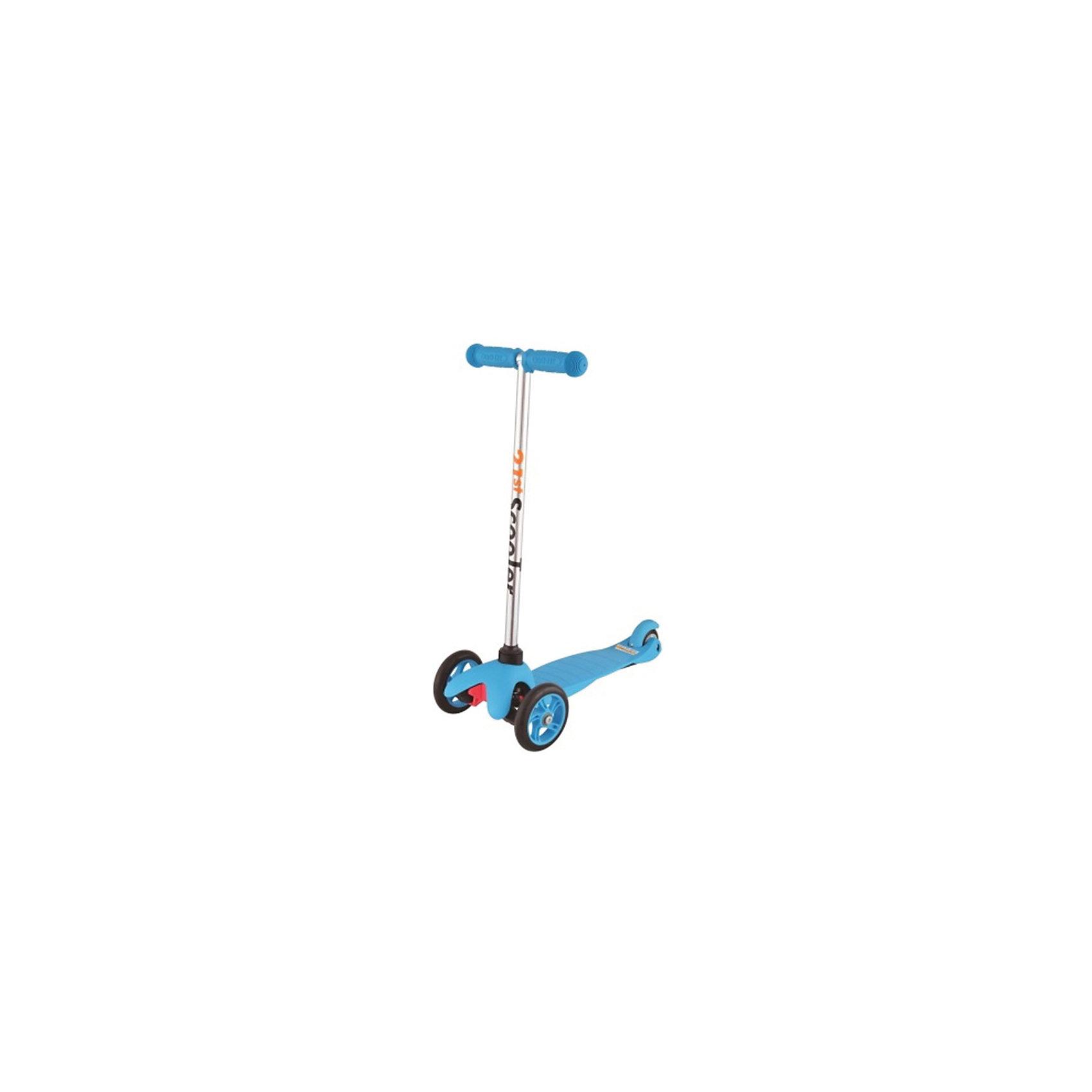 Самокат 3-х колёсный Maxi Scooter, синий, 21st scooTerСамокаты<br>21st scooter MaxiScooter (SKL-06A) - детский трехколесный самокат с амортизацией передней вилки. Самокат имеет уникальную запатентованную систему управления. Гибкая подножка сделана из мягкого пластика усиленного стекловолокном, что исключает риск травмирования ребенка об нее.За счет своей устойчивости и плавности хода, SKL-06A очень просто освоить. Самокат изготовлен из высококачественных материалов. Он отлично способствует развитию опорно-двигательного аппарата ребенка его координацию движения и навыки балансировки.Характеристики:• Вес: 2 кг.• Возраст:  от 3-х лет• Максимальная нагрузка: до 30 кг.• Материал: алюминий, полипропилен, стеклопластик• Колеса: полиуретановые литые колеса PU• Диаметр колес: передние 120 мм, заднее 80 мм.• Подшипники: ABEC-1• Тормоз: задний тормоз наступающий (step-on brake)• Размеры: 67х23х53,5 см.• Размер платформы: 52х11 см.<br><br>Ширина мм: 610<br>Глубина мм: 450<br>Высота мм: 390<br>Вес г: 2400<br>Возраст от месяцев: 36<br>Возраст до месяцев: 2147483647<br>Пол: Унисекс<br>Возраст: Детский<br>SKU: 5475695