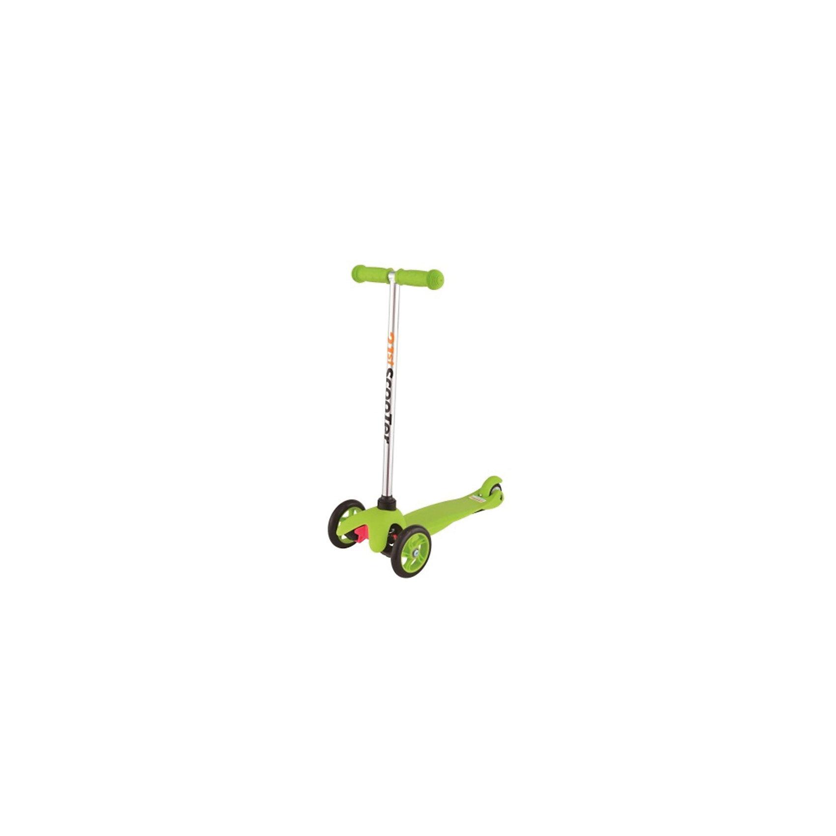 Самокат 3-х колёсный Maxi Scooter, зелёный, 21st scooTerСамокаты<br>21st scooter MaxiScooter (SKL-06A) - детский трехколесный самокат с амортизацией передней вилки. Самокат имеет уникальную запатентованную систему управления. Гибкая подножка сделана из мягкого пластика усиленного стекловолокном, что исключает риск травмирования ребенка об нее.За счет своей устойчивости и плавности хода, SKL-06A очень просто освоить. Самокат изготовлен из высококачественных материалов. Он отлично способствует развитию опорно-двигательного аппарата ребенка его координацию движения и навыки балансировки.Характеристики:• Вес: 2 кг.• Возраст:  от 3-х лет• Максимальная нагрузка: до 30 кг.• Материал: алюминий, полипропилен, стеклопластик• Колеса: полиуретановые литые колеса PU• Диаметр колес: передние 120 мм, заднее 80 мм.• Подшипники: ABEC-1• Тормоз: задний тормоз наступающий (step-on brake)• Размеры: 67х23х53,5 см.• Размер платформы: 52х11 см.<br><br>Ширина мм: 610<br>Глубина мм: 450<br>Высота мм: 390<br>Вес г: 2400<br>Возраст от месяцев: 36<br>Возраст до месяцев: 2147483647<br>Пол: Унисекс<br>Возраст: Детский<br>SKU: 5475696
