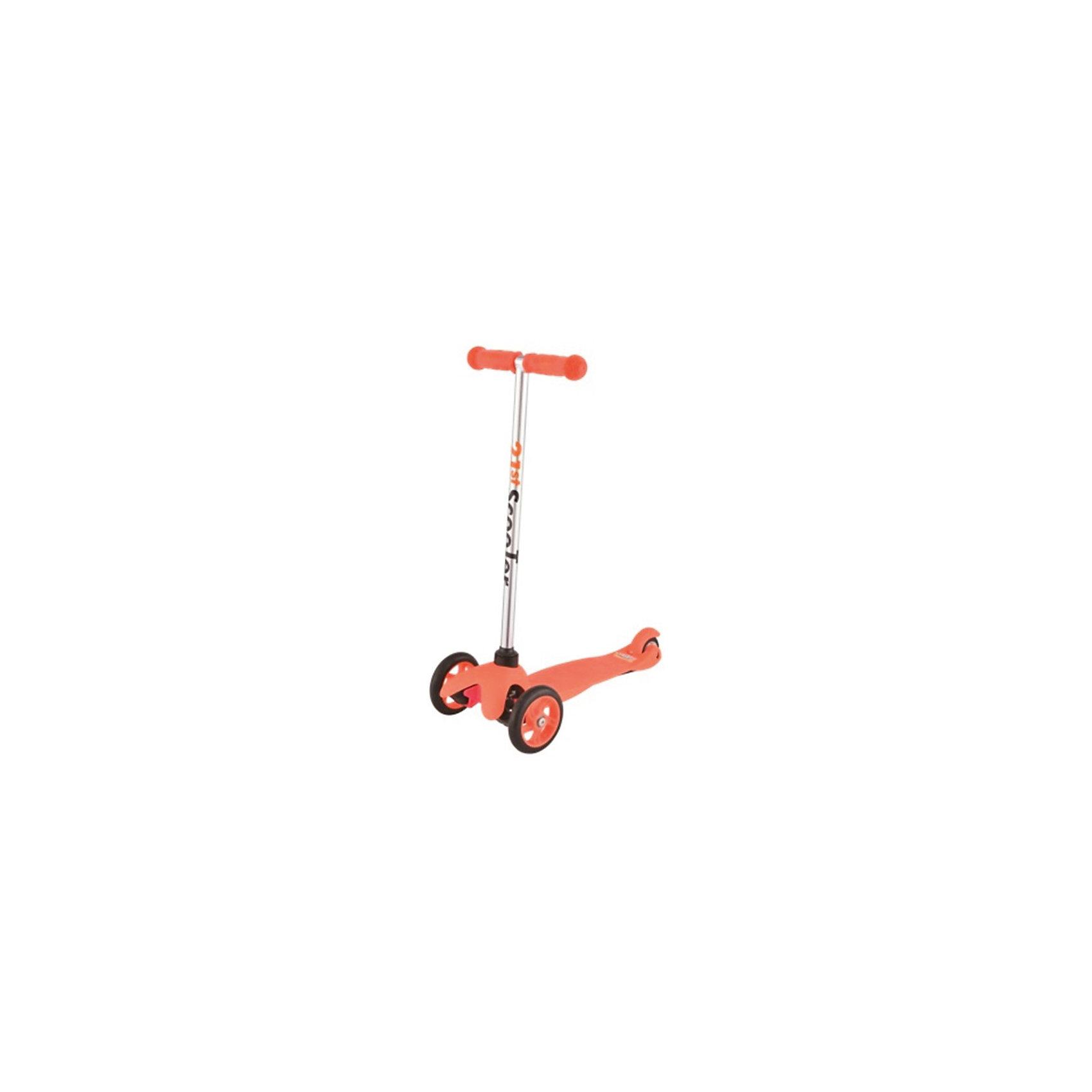Самокат 3-х колёсный Maxi Scooter, оранжевый, 21st scooTer21st scooter MaxiScooter (SKL-06A) - детский трехколесный самокат с амортизацией передней вилки. Самокат имеет уникальную запатентованную систему управления. Гибкая подножка сделана из мягкого пластика усиленного стекловолокном, что исключает риск травмирования ребенка об нее.За счет своей устойчивости и плавности хода, SKL-06A очень просто освоить. Самокат изготовлен из высококачественных материалов. Он отлично способствует развитию опорно-двигательного аппарата ребенка его координацию движения и навыки балансировки.Характеристики:• Вес: 2 кг.• Возраст:  от 3-х лет• Максимальная нагрузка: до 30 кг.• Материал: алюминий, полипропилен, стеклопластик• Колеса: полиуретановые литые колеса PU• Диаметр колес: передние 120 мм, заднее 80 мм.• Подшипники: ABEC-1• Тормоз: задний тормоз наступающий (step-on brake)• Размеры: 67х23х53,5 см.• Размер платформы: 52х11 см.<br><br>Ширина мм: 610<br>Глубина мм: 450<br>Высота мм: 390<br>Вес г: 2400<br>Возраст от месяцев: 36<br>Возраст до месяцев: 2147483647<br>Пол: Унисекс<br>Возраст: Детский<br>SKU: 5475697