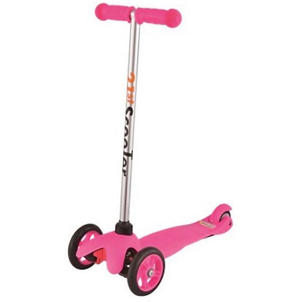 Самокат 3-х колёсный Maxi Scooter, розовый, 21st scooTerСамокаты<br>Характеристики товара:<br><br>• возраст: от 3 лет;<br>• максимальная нагрузка: 40 кг;<br>• материал: пластик, алюминий, стекловолокно;<br>• материал колес: полиуретан;<br>• диаметр передних колес: 120 мм;<br>• диаметр заднего колеса: 80 мм;<br>• размер деки: 52х11 см;<br>• размер самоката: 67х23х53,5 см;<br>• вес самоката: 2,6 кг;<br>• размер упаковки: 60х25х18 см;<br>• вес упаковки: 3,1 кг;<br>• страна производитель: Китай.<br><br>Самокат трехколесный Maxi Scooter 21st ScooTer розовый позволит весело и активно провести время на прогулке и поспособствует физическому развитию ребенка. Самокат подойдет для детей, которые только учатся кататься на самокате. Благодаря 2 передним колесам самокат сохраняет хорошую устойчивость, позволяя кататься начинающим юным райдерам.<br><br>Платформа выполнена из пластика с использованием стекловолокна, отличающегося прочностью. Передняя вилка оснащена амортизаторами для смягчения тряски по неровному дорожному покрытию. На ручках руля — прорезиненные накладки, предотвращающие соскальзывание ладошек во время езды.<br><br>Руль самоката не регулируется по высоте.<br><br>Самокат трехколесный Maxi Scooter 21st ScooTer розовый можно приобрести в нашем интернет-магазине.<br>Ширина мм: 610; Глубина мм: 450; Высота мм: 390; Вес г: 2400; Возраст от месяцев: 36; Возраст до месяцев: 2147483647; Пол: Унисекс; Возраст: Детский; SKU: 5475698;