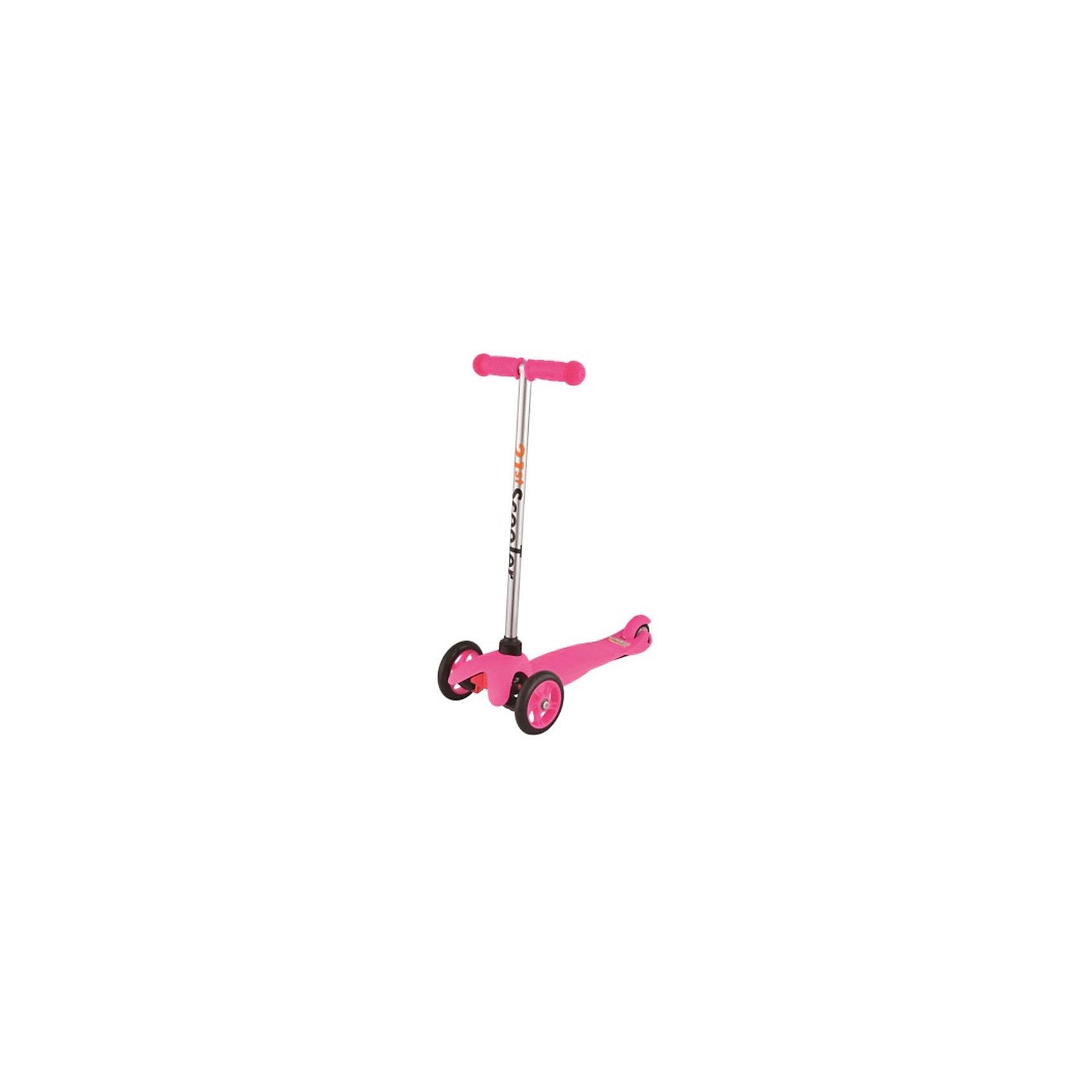 Самокат 3-х колёсный Maxi Scooter, розовый, 21st scooTerСамокаты<br>21st scooter MaxiScooter (SKL-06A) - детский трехколесный самокат с амортизацией передней вилки. Самокат имеет уникальную запатентованную систему управления. Гибкая подножка сделана из мягкого пластика усиленного стекловолокном, что исключает риск травмирования ребенка об нее.За счет своей устойчивости и плавности хода, SKL-06A очень просто освоить. Самокат изготовлен из высококачественных материалов. Он отлично способствует развитию опорно-двигательного аппарата ребенка его координацию движения и навыки балансировки.Характеристики:• Вес: 2 кг.• Возраст:  от 3-х лет• Максимальная нагрузка: до 30 кг.• Материал: алюминий, полипропилен, стеклопластик• Колеса: полиуретановые литые колеса PU• Диаметр колес: передние 120 мм, заднее 80 мм.• Подшипники: ABEC-1• Тормоз: задний тормоз наступающий (step-on brake)• Размеры: 67х23х53,5 см.• Размер платформы: 52х11 см.<br><br>Ширина мм: 610<br>Глубина мм: 450<br>Высота мм: 390<br>Вес г: 2400<br>Возраст от месяцев: 36<br>Возраст до месяцев: 2147483647<br>Пол: Унисекс<br>Возраст: Детский<br>SKU: 5475698