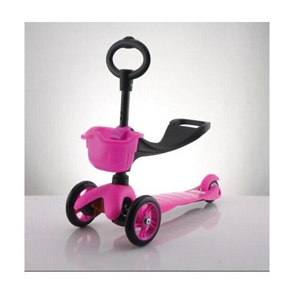 Самокат 3-х колёсный с сидением Maxi Scooter, красный, 21st scooTerСамокаты<br>Характеристики товара:<br><br>• возраст: от 1 года;<br>• максимальная нагрузка: 30 кг;<br>• материал: пластик, алюминий;<br>• материал колес: полиуретан;<br>• диаметр передних колес: 120 мм;<br>• диаметр заднего колеса: 80 мм;<br>• размер деки: 52х11 см;<br>• размер самоката: 67х23х53,5 см;<br>• вес самоката: 2,8 кг;<br>• размер упаковки: 61х45х39 см;<br>• вес упаковки: 3 кг;<br>• страна производитель: Китай.<br><br>Самокат трехколесный с сидением Maxi Scooter 21st ScooTer красный позволит весело и активно провести время на прогулке и поспособствует физическому развитию ребенка. Самокат подойдет для детей, которые только учатся кататься на самокате. <br><br>Для самых маленьких на самокат крепится сидение. Сидя на нем, малыш отталкивается от земли и осваивает базовые навыки катания. Затем сидение снимается, и самокат используется в качестве традиционного самоката.<br><br>Платформа выполнена из прочного пластика с рифленой поверхностью. Подшипники позволяют смягчить тряску по неровному дорожному покрытию. На руле имеется небольшая корзинка для мелочей и игрушек.<br><br>Самокат трехколесный с сидением Maxi Scooter 21st ScooTer красный можно приобрести в нашем интернет-магазине.<br>Ширина мм: 610; Глубина мм: 450; Высота мм: 390; Вес г: 3100; Возраст от месяцев: 12; Возраст до месяцев: 2147483647; Пол: Унисекс; Возраст: Детский; SKU: 5475702;