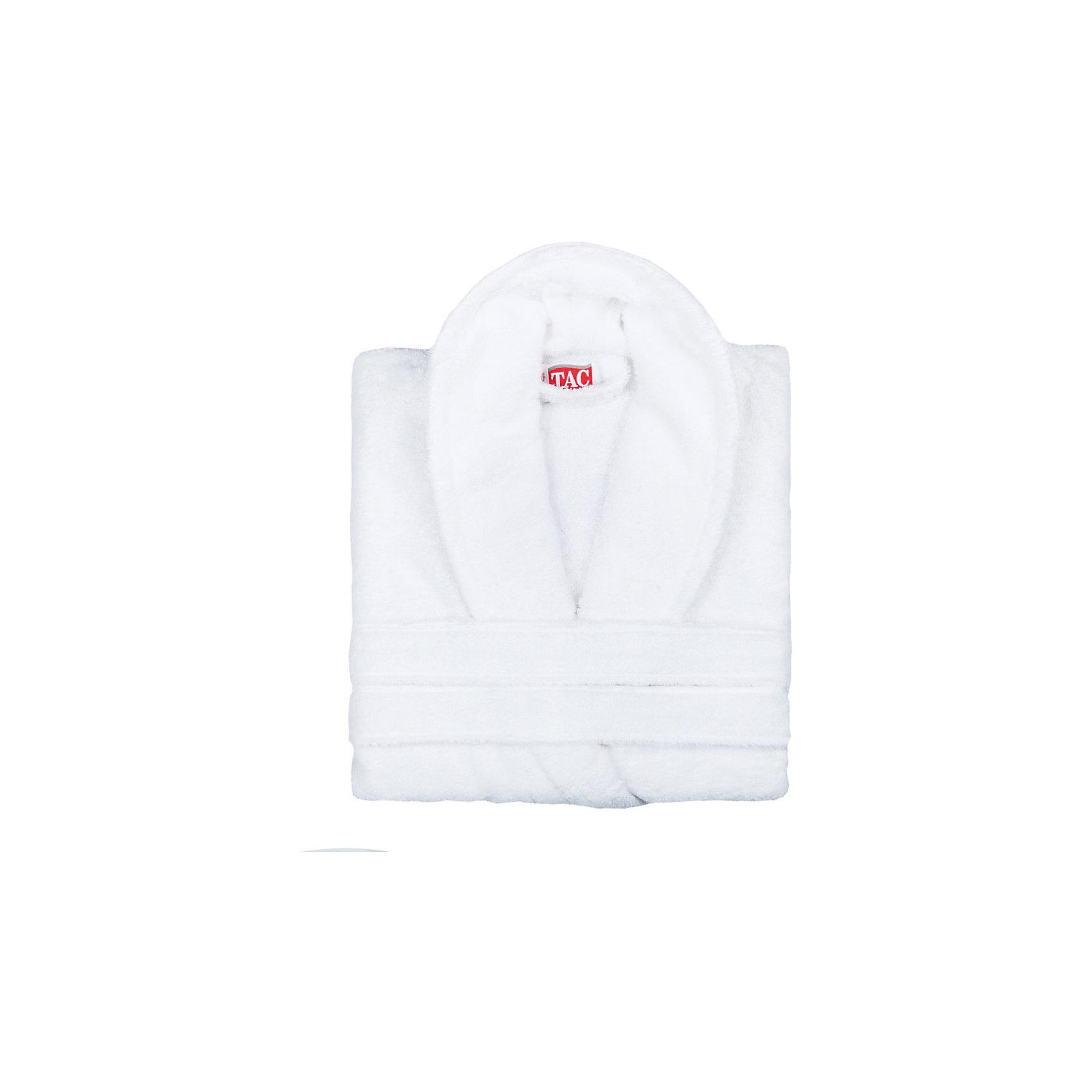Халат махровый Maison Bambu, S/M, TAC, белый (beyaz)Ванная комната<br>Характеристики:<br><br>• Вид домашнего текстиля: махровый халат<br>• Размер международный/российский: S/M (42, 44, 46)<br>• Пол: унисекс<br>• Рисунок: без рисунка<br>• Материал: хлопок, 50% хлопок; бамбук, 50%<br>• Цвет: белый<br>• Плотность полотна: 320 гр/м2 <br>• Силуэт: прямой<br>• Рукав: длинный<br>• Воротник: отложной<br>• Застежка: пояс<br>• Вес в упаковке: 1 кг 030 г<br>• Размеры упаковки (Д*Ш*В): 39*10*29 см<br>• Особенности ухода: машинная стирка <br><br>Халат махровый Maison Bambu, S/M, TAC, белый (beyaz) от наиболее популярного бренда на отечественном рынке среди производителей комплектов постельного белья и текстильных принадлежностей, выпуском которого занимается производственная компания, являющаяся частью мирового холдинга Zorlu Holding Textiles Group. Халат выполнен из сочетания натурального хлопка и бамбукового волокна, что обеспечивает гипоаллергенность, высокую износоустойчивость, повышенные гигкоскопические и антибактериальные свойства изделия. Благодаря высокой степени плотности махры, халат отлично впитывает влагу, но при этом остается мягким. <br><br>Ворс окрашен стойкими нетоксичными красителями, который не оставляет запаха и обеспечивает ровный окрас. Изделие сохраняет свой цвет и форму даже при частых стирках. Халат прямого кроя с длинными рукавами и отложным воротником идеально подходит для посещения бани или сауны, а в прохладные вечера обеспечит комфорт и уют своему владельцу. Выполнен в белом цвете без рисунка.<br><br>Халат махровый Maison Bambu, S/M, TAC, белый (beyaz) можно купить в нашем интернет-магазине.<br><br>Ширина мм: 290<br>Глубина мм: 90<br>Высота мм: 400<br>Вес г: 1300<br>Возраст от месяцев: 216<br>Возраст до месяцев: 1188<br>Пол: Унисекс<br>Возраст: Детский<br>SKU: 5476355