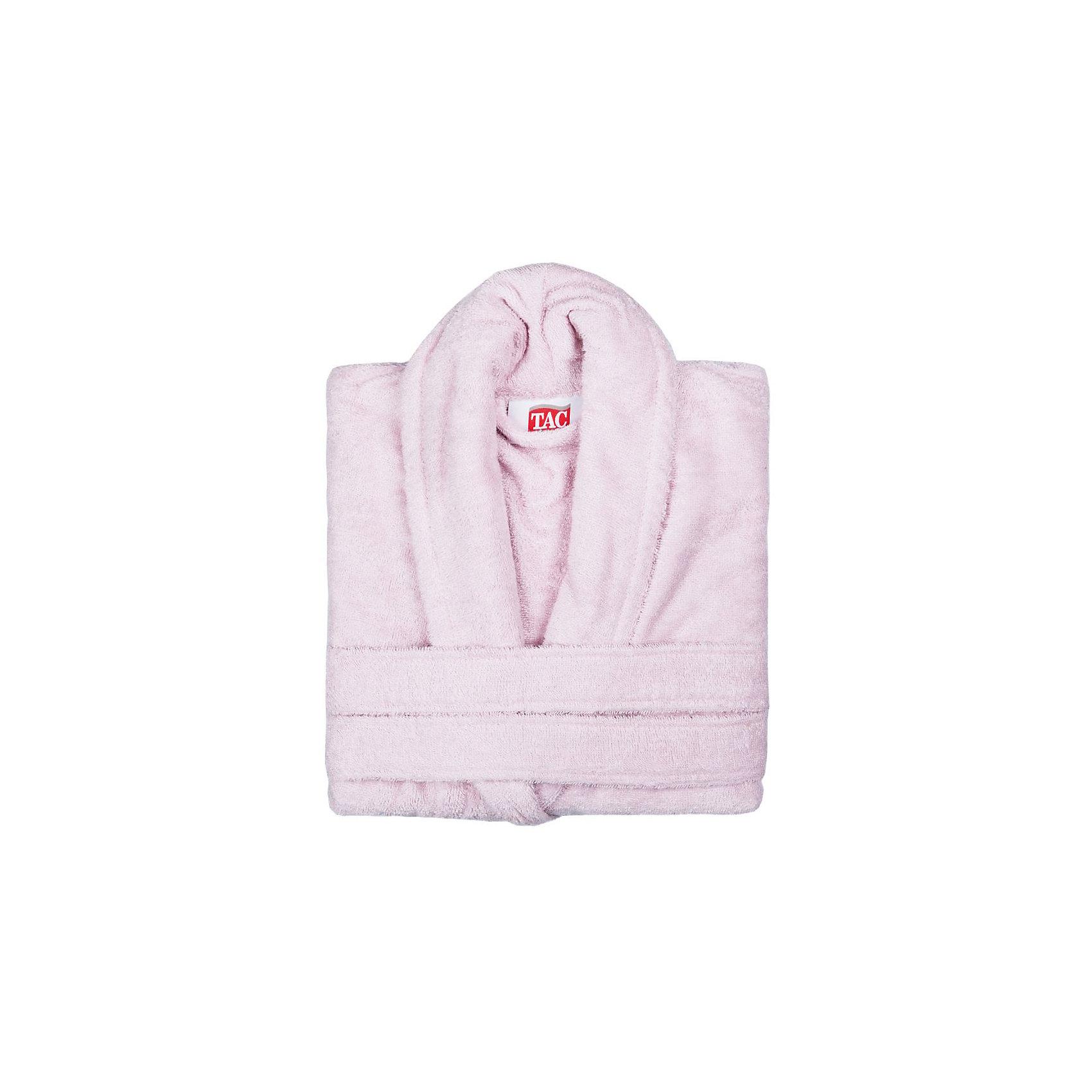 Халат махровый Maison Bambu, S/M, TAC, розовый (pudra)Ванная комната<br>Характеристики:<br><br>• Вид домашнего текстиля: махровый халат<br>• Размер международный/российский: S/M (42, 44, 46)<br>• Пол: женский<br>• Рисунок: без рисунка<br>• Материал: хлопок, 50% хлопок; бамбук, 50%<br>• Цвет: фисташковый<br>• Плотность полотна: 320 гр/м2 <br>• Силуэт: прямой<br>• Рукав: длинный<br>• Воротник: отложной<br>• Застежка: пояс<br>• Вес в упаковке: 1 кг 030 г<br>• Размеры упаковки (Д*Ш*В): 39*10*29 см<br>• Особенности ухода: машинная стирка <br><br>Халат махровый Maison Bambu, S/M, TAC, розовый (pudra) от наиболее популярного бренда на отечественном рынке среди производителей комплектов постельного белья и текстильных принадлежностей, выпуском которого занимается производственная компания, являющаяся частью мирового холдинга Zorlu Holding Textiles Group. Халат выполнен из сочетания натурального хлопка и бамбукового волокна, что обеспечивает гипоаллергенность, высокую износоустойчивость, повышенные гигкоскопические и антибактериальные свойства изделия. Благодаря высокой степени плотности махры, халат отлично впитывает влагу, но при этом остается мягким. <br><br>Ворс окрашен стойкими нетоксичными красителями, который не оставляет запаха и обеспечивает ровный окрас. Изделие сохраняет свой цвет и форму даже при частых стирках. Халат прямого кроя с длинными рукавами и отложным воротником идеально подходит для посещения бани или сауны, а в прохладные вечера обеспечит комфорт и уют своему владельцу. Выполнен в розовом цвете без рисунка.<br><br>Халат махровый Maison Bambu, S/M, TAC, розовый (pudra) можно купить в нашем интернет-магазине.<br><br>Ширина мм: 290<br>Глубина мм: 90<br>Высота мм: 400<br>Вес г: 1300<br>Возраст от месяцев: 216<br>Возраст до месяцев: 1188<br>Пол: Унисекс<br>Возраст: Детский<br>SKU: 5476357