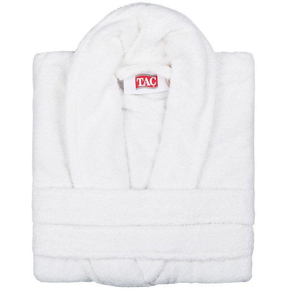 Халат махровый Maison Bambu, L/XL, TAC, кремовый (ekru)Аксессуары для ванны<br>Характеристики:<br><br>• Вид домашнего текстиля: махровый халат<br>• Размер международный/российский: L/XL (48, 50, 52)<br>• Пол: унисекс<br>• Рисунок: без рисунка<br>• Материал: хлопок, 50% хлопок; бамбук, 50%<br>• Цвет: кремовый<br>• Плотность полотна: 320 гр/м2 <br>• Силуэт: прямой<br>• Рукав: длинный<br>• Воротник: отложной<br>• Застежка: пояс<br>• Вес в упаковке: 1 кг 130 г<br>• Размеры упаковки (Д*Ш*В): 40*10*32 см<br>• Особенности ухода: машинная стирка <br><br>Халат махровый Maison Bambu, L/XL, TAC, кремовый (ekru) от наиболее популярного бренда на отечественном рынке среди производителей комплектов постельного белья и текстильных принадлежностей, выпуском которого занимается производственная компания, являющаяся частью мирового холдинга Zorlu Holding Textiles Group. Халат выполнен из сочетания натурального хлопка и бамбукового волокна, что обеспечивает гипоаллергенность, высокую износоустойчивость, повышенные гигкоскопические и антибактериальные свойства изделия. Благодаря высокой степени плотности махры, халат отлично впитывает влагу, но при этом остается мягким. <br><br>Ворс окрашен стойкими нетоксичными красителями, который не оставляет запаха и обеспечивает ровный окрас. Изделие сохраняет свой цвет и форму даже при частых стирках. Халат прямого кроя с длинными рукавами и отложным воротником идеально подходит для посещения бани или сауны, а в прохладные вечера обеспечит комфорт и уют своему владельцу. Выполнен в кремовом цвете без рисунка.<br><br>Халат махровый Maison Bambu, L/XL, TAC, кремовый (ekru) можно купить в нашем интернет-магазине.<br>Ширина мм: 290; Глубина мм: 90; Высота мм: 400; Вес г: 1400; Возраст от месяцев: 216; Возраст до месяцев: 1188; Пол: Унисекс; Возраст: Детский; SKU: 5476359;