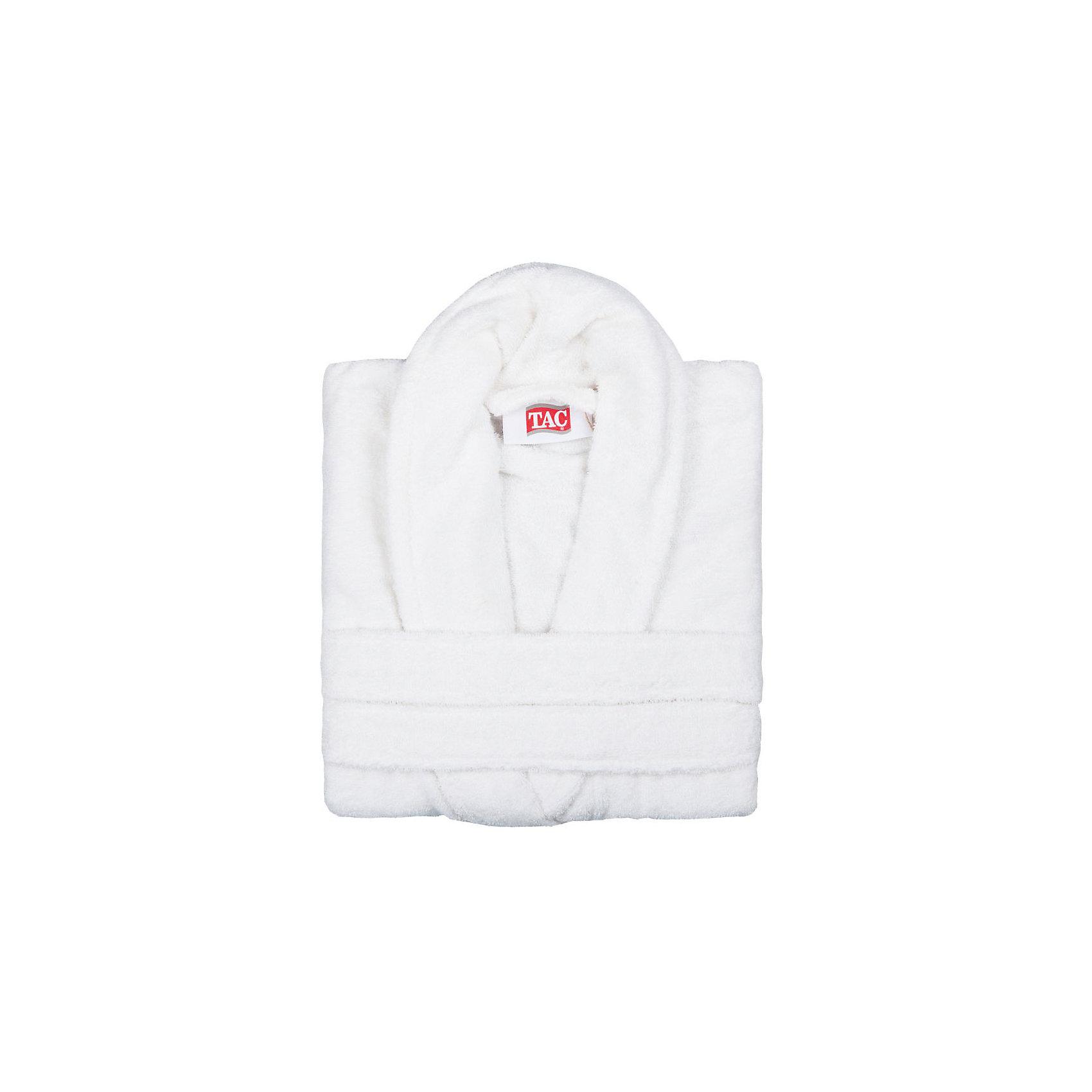 Халат махровый Maison Bambu, L/XL, TAC, кремовый (ekru)Ванная комната<br>Характеристики:<br><br>• Вид домашнего текстиля: махровый халат<br>• Размер международный/российский: L/XL (48, 50, 52)<br>• Пол: унисекс<br>• Рисунок: без рисунка<br>• Материал: хлопок, 50% хлопок; бамбук, 50%<br>• Цвет: кремовый<br>• Плотность полотна: 320 гр/м2 <br>• Силуэт: прямой<br>• Рукав: длинный<br>• Воротник: отложной<br>• Застежка: пояс<br>• Вес в упаковке: 1 кг 130 г<br>• Размеры упаковки (Д*Ш*В): 40*10*32 см<br>• Особенности ухода: машинная стирка <br><br>Халат махровый Maison Bambu, L/XL, TAC, кремовый (ekru) от наиболее популярного бренда на отечественном рынке среди производителей комплектов постельного белья и текстильных принадлежностей, выпуском которого занимается производственная компания, являющаяся частью мирового холдинга Zorlu Holding Textiles Group. Халат выполнен из сочетания натурального хлопка и бамбукового волокна, что обеспечивает гипоаллергенность, высокую износоустойчивость, повышенные гигкоскопические и антибактериальные свойства изделия. Благодаря высокой степени плотности махры, халат отлично впитывает влагу, но при этом остается мягким. <br><br>Ворс окрашен стойкими нетоксичными красителями, который не оставляет запаха и обеспечивает ровный окрас. Изделие сохраняет свой цвет и форму даже при частых стирках. Халат прямого кроя с длинными рукавами и отложным воротником идеально подходит для посещения бани или сауны, а в прохладные вечера обеспечит комфорт и уют своему владельцу. Выполнен в кремовом цвете без рисунка.<br><br>Халат махровый Maison Bambu, L/XL, TAC, кремовый (ekru) можно купить в нашем интернет-магазине.<br><br>Ширина мм: 290<br>Глубина мм: 90<br>Высота мм: 400<br>Вес г: 1400<br>Возраст от месяцев: 216<br>Возраст до месяцев: 1188<br>Пол: Унисекс<br>Возраст: Детский<br>SKU: 5476359
