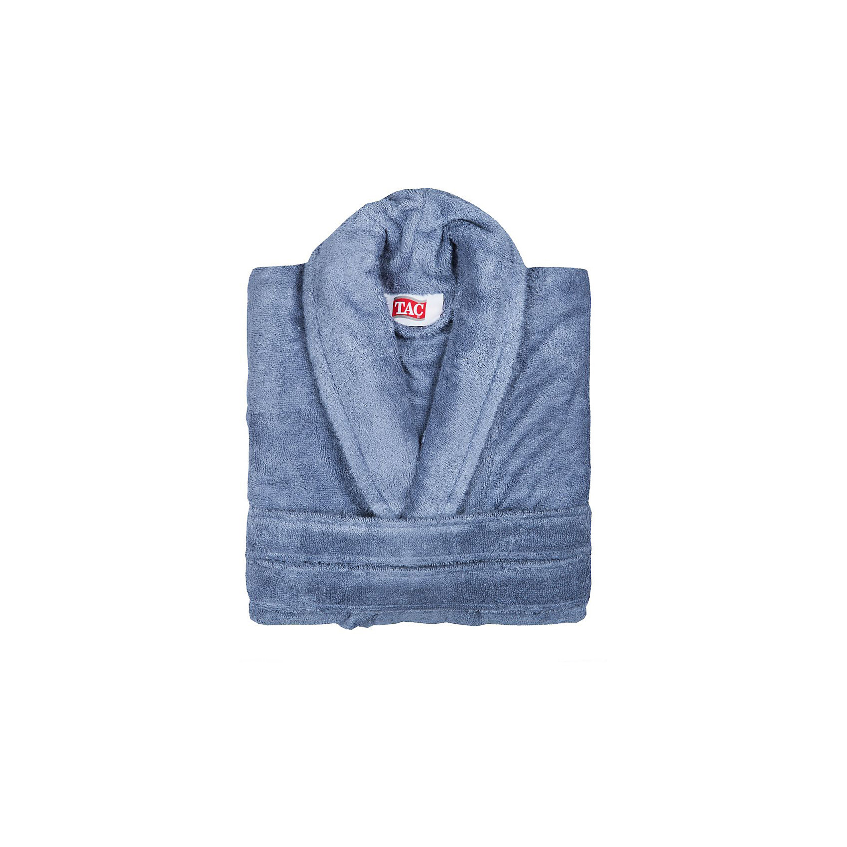 Халат махровый Maison Bambu, L/XL, TAC, синий (k.mavi)Ванная комната<br>Характеристики:<br><br>• Вид домашнего текстиля: махровый халат<br>• Размер международный/российский: L/XL<br>• Пол: унисекс<br>• Рисунок: без рисунка<br>• Материал: хлопок, 50% хлопок; бамбук, 50%<br>• Цвет: синий<br>• Плотность полотна: 320 гр/м2 <br>• Силуэт: прямой<br>• Рукав: длинный<br>• Воротник: отложной<br>• Застежка: пояс<br>• Вес в упаковке: 1 кг 130 г<br>• Размеры упаковки (Д*Ш*В): 40*10*32 см<br>• Особенности ухода: машинная стирка <br><br>Халат махровый Maison Bambu, L/XL, TAC, синий (k.mavi) от наиболее популярного бренда на отечественном рынке среди производителей комплектов постельного белья и текстильных принадлежностей, выпуском которого занимается производственная компания, являющаяся частью мирового холдинга Zorlu Holding Textiles Group. Халат выполнен из сочетания натурального хлопка и бамбукового волокна, что обеспечивает гипоаллергенность, высокую износоустойчивость, повышенные гигкоскопические и антибактериальные свойства изделия. <br><br>Благодаря высокой степени плотности махры, халат отлично впитывает влагу, но при этом остается мягким. Ворс окрашен стойкими нетоксичными красителями, который не оставляет запаха и обеспечивает ровный окрас. Изделие сохраняет свой цвет и форму даже при частых стирках. Халат прямого кроя с длинными рукавами и отложным воротником идеально подходит для посещения бани или сауны, а в прохладные вечера обеспечит комфорт и уют своему владельцу. Выполнен в синем цвете без рисунка.<br><br>Халат махровый Maison Bambu, L/XL, TAC, синий (k.mavi) можно купить в нашем интернет-магазине.<br><br>Ширина мм: 290<br>Глубина мм: 90<br>Высота мм: 400<br>Вес г: 1400<br>Возраст от месяцев: 216<br>Возраст до месяцев: 1188<br>Пол: Унисекс<br>Возраст: Детский<br>SKU: 5476361