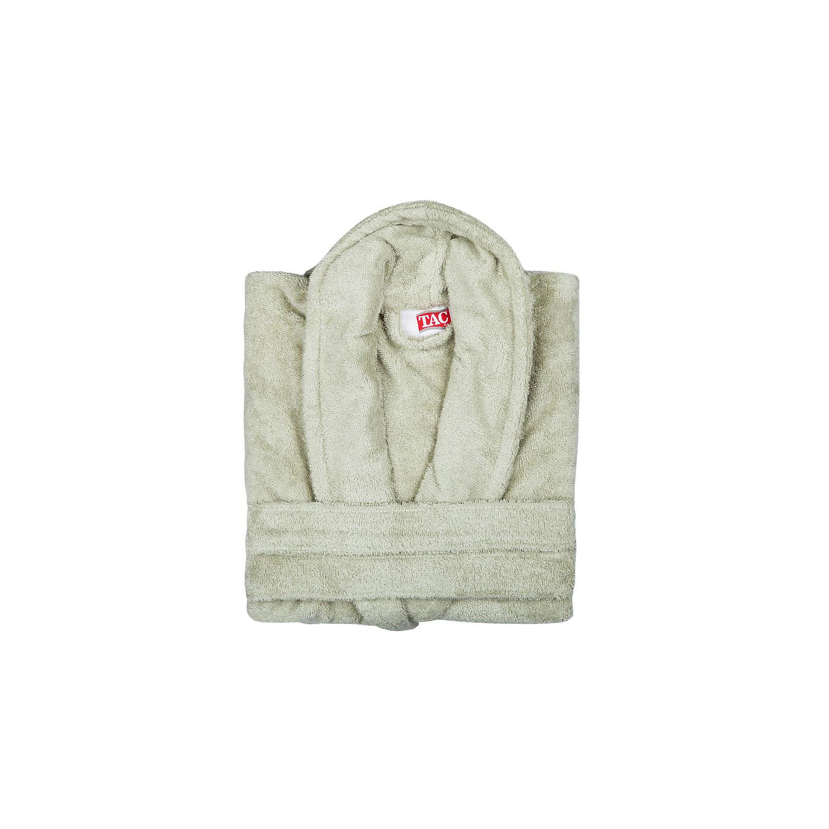 Халат махровый Maison Bambu, L/XL, TAC, фисташковый (cagla)Ванная комната<br>Характеристики:<br><br>• Вид домашнего текстиля: махровый халат<br>• Размер международный/российский: L/XL<br>• Пол: унисекс<br>• Рисунок: без рисунка<br>• Материал: хлопок, 50% хлопок; бамбук, 50%<br>• Цвет: фисташковый<br>• Плотность полотна: 320 гр/м2 <br>• Силуэт: прямой<br>• Рукав: длинный<br>• Воротник: отложной<br>• Застежка: пояс<br>• Вес в упаковке: 1 кг 130 г<br>• Размеры упаковки (Д*Ш*В): 40*10*32 см<br>• Особенности ухода: машинная стирка <br><br>Халат махровый Maison Bambu, L/XL, TAC, фисташковый (cagla) от наиболее популярного бренда на отечественном рынке среди производителей комплектов постельного белья и текстильных принадлежностей, выпуском которого занимается производственная компания, являющаяся частью мирового холдинга Zorlu Holding Textiles Group. Халат выполнен из сочетания натурального хлопка и бамбукового волокна, что обеспечивает гипоаллергенность, высокую износоустойчивость, повышенные гигкоскопические и антибактериальные свойства изделия. Благодаря высокой степени плотности махры, халат отлично впитывает влагу, но при этом остается мягким. <br><br>Ворс окрашен стойкими нетоксичными красителями, который не оставляет запаха и обеспечивает ровный окрас. Изделие сохраняет свой цвет и форму даже при частых стирках. Халат прямого кроя с длинными рукавами и отложным воротником идеально подходит для посещения бани или сауны, а в прохладные вечера обеспечит комфорт и уют своему владельцу. Выполнен в фисташковом цвете без рисунка.<br><br>Халат махровый Maison Bambu, L/XL, TAC, фисташковый (cagla) можно купить в нашем интернет-магазине.<br><br>Ширина мм: 290<br>Глубина мм: 90<br>Высота мм: 400<br>Вес г: 1400<br>Возраст от месяцев: 216<br>Возраст до месяцев: 1188<br>Пол: Унисекс<br>Возраст: Детский<br>SKU: 5476364