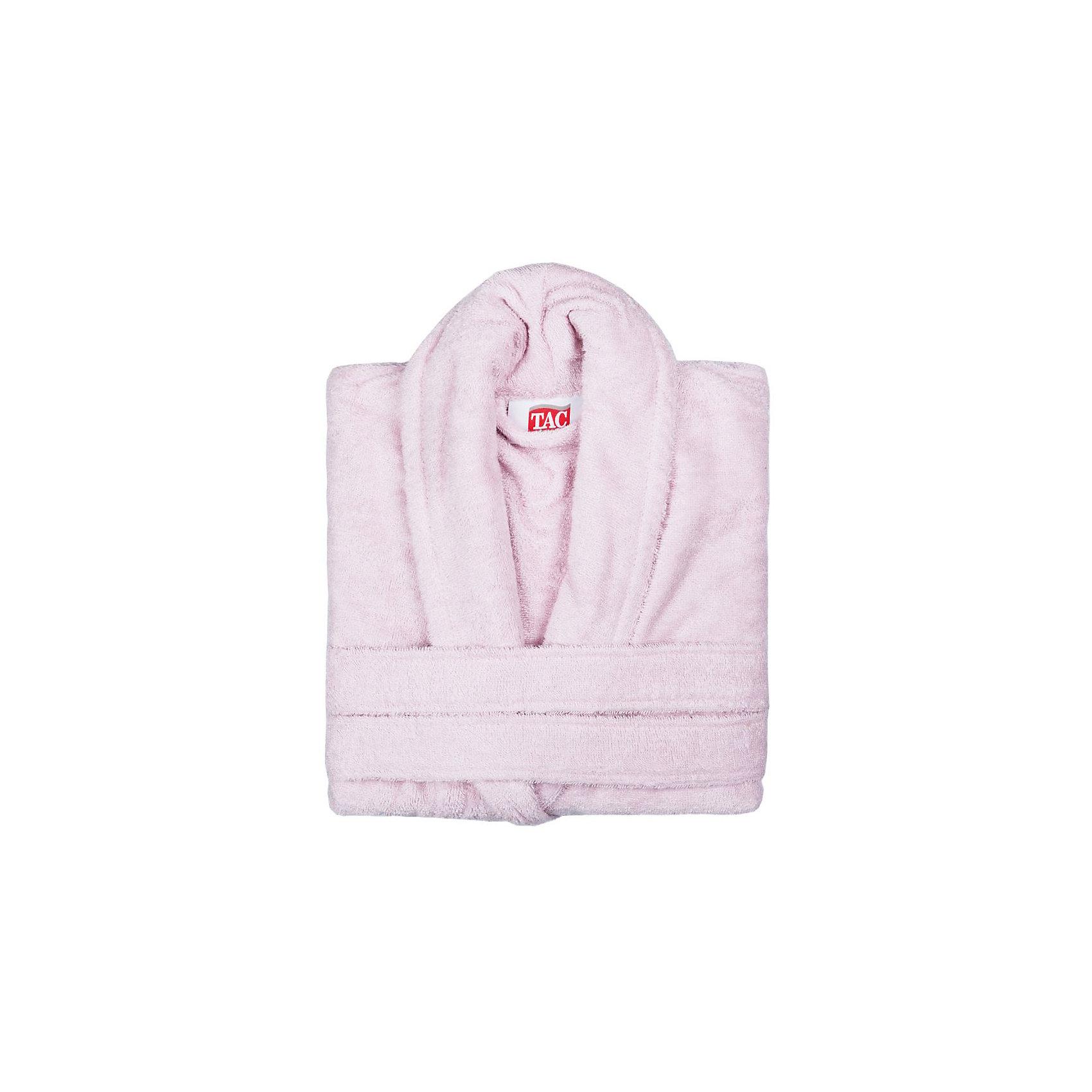 Халат махровый Maison Bambu, L/XL, TAC, розовый (pudra)Ванная комната<br>Характеристики:<br><br>• Вид домашнего текстиля: махровый халат<br>• Размер международный/российский: L/XL<br>• Пол: женский<br>• Рисунок: без рисунка<br>• Материал: хлопок, 50% хлопок; бамбук, 50%<br>• Цвет: розовый<br>• Плотность полотна: 320 гр/м2 <br>• Силуэт: прямой<br>• Рукав: длинный<br>• Воротник: отложной<br>• Застежка: пояс<br>• Вес в упаковке: 1 кг 130 г<br>• Размеры упаковки (Д*Ш*В): 40*10*32 см<br>• Особенности ухода: машинная стирка <br><br>Халат махровый Maison Bambu, L/XL, TAC, розовый (pudra) от наиболее популярного бренда на отечественном рынке среди производителей комплектов постельного белья и текстильных принадлежностей, выпуском которого занимается производственная компания, являющаяся частью мирового холдинга Zorlu Holding Textiles Group. Халат выполнен из сочетания натурального хлопка и бамбукового волокна, что обеспечивает гипоаллергенность, высокую износоустойчивость, повышенные гигкоскопические и антибактериальные свойства изделия. Благодаря высокой степени плотности махры, халат отлично впитывает влагу, но при этом остается мягким. <br><br>Ворс окрашен стойкими нетоксичными красителями, который не оставляет запаха и обеспечивает ровный окрас. Изделие сохраняет свой цвет и форму даже при частых стирках. Халат прямого кроя с длинными рукавами и отложным воротником идеально подходит для посещения бани или сауны, а в прохладные вечера обеспечит комфорт и уют своему владельцу. Выполнен в розовом цвете без рисунка.<br><br>Халат махровый Maison Bambu, L/XL, TAC, розовый (pudra) можно купить в нашем интернет-магазине.<br><br>Ширина мм: 290<br>Глубина мм: 90<br>Высота мм: 400<br>Вес г: 1400<br>Возраст от месяцев: 216<br>Возраст до месяцев: 1188<br>Пол: Женский<br>Возраст: Детский<br>SKU: 5476365