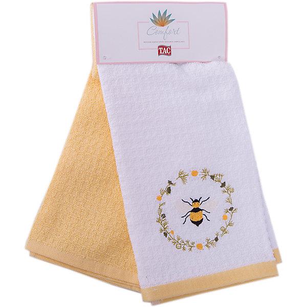 Набор кухонных полотенец 40*60, 2шт., TAC, DAISY BEEКухонная утварь<br>Характеристики:<br><br>• Вид домашнего текстиля: кухонное полотенце<br>• Размеры полотенца: 40*60 см<br>• Рисунок: пчела, цветы<br>• Декор: вышивка<br>• Материал: хлопок, 100% <br>• Цвет: белый, желтый, зеленый<br>• Плотность полотна: 350 гр/м2 <br>• Комплектация: 2 полотенца<br>• Вес: 205 г<br>• Размеры упаковки (Д*Ш*В): 32*3*15 см<br>• Особенности ухода: машинная стирка <br><br>Набор кухонных полотенец 40*60, 2шт., TAC, DAISY BEE от наиболее популярного бренда на отечественном рынке среди производителей комплектов постельного белья и текстильных принадлежностей, выпуском которого занимается производственная компания, являющаяся частью мирового холдинга Zorlu Holding Textiles Group. <br><br>Полотенца выполнены из натурального хлопка, что обеспечивает высокие впитывающие и износоустойчивые качества. Благодаря высокой степени плотности махры, изделия отлично впитывают влагу, легко отстирываются от пятен и не требуют глажки. Выполнены в белом цвете, декорированы вышивкой.<br><br>Набор кухонных полотенец 40*60, 2шт., TAC, DAISY BEE можно купить в нашем интернет-магазине.<br><br>Ширина мм: 140<br>Глубина мм: 30<br>Высота мм: 300<br>Вес г: 400<br>Возраст от месяцев: 216<br>Возраст до месяцев: 1188<br>Пол: Унисекс<br>Возраст: Детский<br>SKU: 5476366