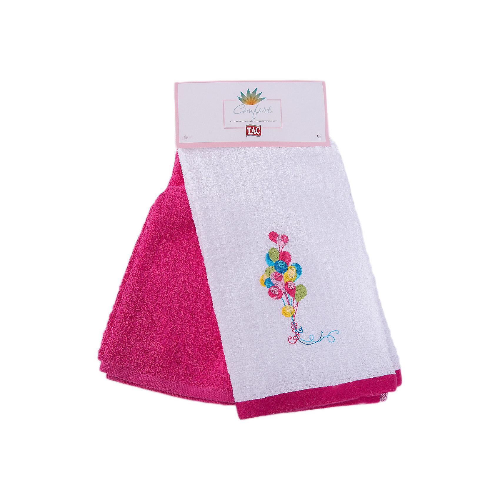 Набор кухонных полотенец 40*60, 2шт., TAC, BALLOONХарактеристики:<br><br>• Вид домашнего текстиля: кухонное полотенце<br>• Размеры полотенца: 40*60 см<br>• Рисунок: воздушные шары<br>• Декор: вышивка<br>• Материал: хлопок, 100% <br>• Цвет: белый, красный, желтый, зеленый<br>• Плотность полотна: 350 гр/м2 <br>• Комплектация: 2 полотенца<br>• Вес: 205 г<br>• Размеры упаковки (Д*Ш*В): 32*3*15 см<br>• Особенности ухода: машинная стирка <br><br>Набор кухонных полотенец 40*60, 2шт., TAC, BALLOON от наиболее популярного бренда на отечественном рынке среди производителей комплектов постельного белья и текстильных принадлежностей, выпуском которого занимается производственная компания, являющаяся частью мирового холдинга Zorlu Holding Textiles Group. <br><br>Полотенца выполнены из натурального хлопка, что обеспечивает высокие впитывающие и износоустойчивые качества. Благодаря высокой степени плотности махры, изделия отлично впитывают влагу, легко отстирываются от пятен и не требуют глажки. Выполнены в белом цвете, декорированы вышивкой. <br><br>Набор кухонных полотенец 40*60, 2шт., TAC, BALLOON можно купить в нашем интернет-магазине.<br><br>Ширина мм: 140<br>Глубина мм: 30<br>Высота мм: 300<br>Вес г: 400<br>Возраст от месяцев: 216<br>Возраст до месяцев: 1188<br>Пол: Унисекс<br>Возраст: Детский<br>SKU: 5476370
