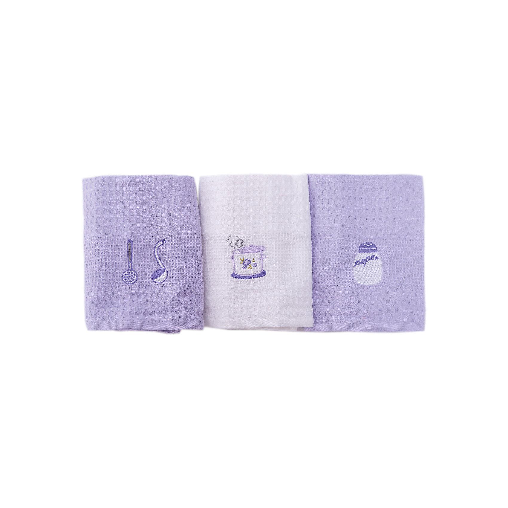 Набор кухонных полотенец 40*60, 3шт., TAC, кухняДомашний текстиль<br>Характеристики:<br><br>• Вид домашнего текстиля: кухонное полотенце<br>• Размеры полотенца: 40*60 см<br>• Рисунок: посуда<br>• Декор: вышивка<br>• Материал: хлопок, 100% <br>• Цвет: белый, сиреневый<br>• Плотность полотна: 350 гр/м2 <br>• Комплектация: 3 полотенца<br>• Вес: 300 г<br>• Размеры упаковки (Д*Ш*В): 21*5*19 см<br>• Подарочная упаковка<br>• Особенности ухода: машинная стирка <br><br>Набор кухонных полотенец 40*60, 3шт., TAC, кухня от наиболее популярного бренда на отечественном рынке среди производителей комплектов постельного белья и текстильных принадлежностей, выпуском которого занимается производственная компания, являющаяся частью мирового холдинга Zorlu Holding Textiles Group. <br><br>Полотенца выполнены из натурального хлопка, что обеспечивает высокие впитывающие и износоустойчивые качества. Благодаря высокой степени плотности махры, изделия отлично впитывают влагу, легко отстирываются от пятен и не требуют глажки. В наборе одно полотенце белое, два – сиреневые, декорированы вышивкой.<br><br>Набор кухонных полотенец 40*60, 3шт., TAC, кухня можно купить в нашем интернет-магазине.<br><br>Ширина мм: 200<br>Глубина мм: 50<br>Высота мм: 180<br>Вес г: 600<br>Возраст от месяцев: 216<br>Возраст до месяцев: 1188<br>Пол: Унисекс<br>Возраст: Детский<br>SKU: 5476375