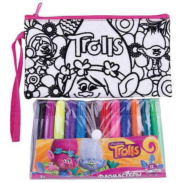 Набор Раскрась сумка Тролли.Наборы для росписи<br>Набор Раскрась сумку Тролли.<br><br>Характеристики:<br><br>• В набор входит: сумка-пенал 19 * 10см, фломастеры 12 цветов<br>• Размер упаковки: 32 * 3 * 23,5 см.<br>• Вес: 200 г.<br>• Для детей в возрасте: от 3 до 6 лет<br>• Страна производитель: Китай<br><br>В набор входят яркие фломастеры двенадцати классических цветов, которые позволят раскрасить сумочку-пенал на своё усмотрение. Мягкая и функциональная сумочка с одним общим отделением на молнии подойдёт как для учебных принадлежностей, так и для повседневных мелочей. Удобная прочная ручка-ремешок позволяет носить сумочку как будет удобнее её хозяйке.<br><br>Набор Раскрась сумку Тролли можно купить в нашем интернет-магазине.<br>Ширина мм: 30; Глубина мм: 235; Высота мм: 320; Вес г: 200; Возраст от месяцев: 36; Возраст до месяцев: 2147483647; Пол: Женский; Возраст: Детский; SKU: 5478269;