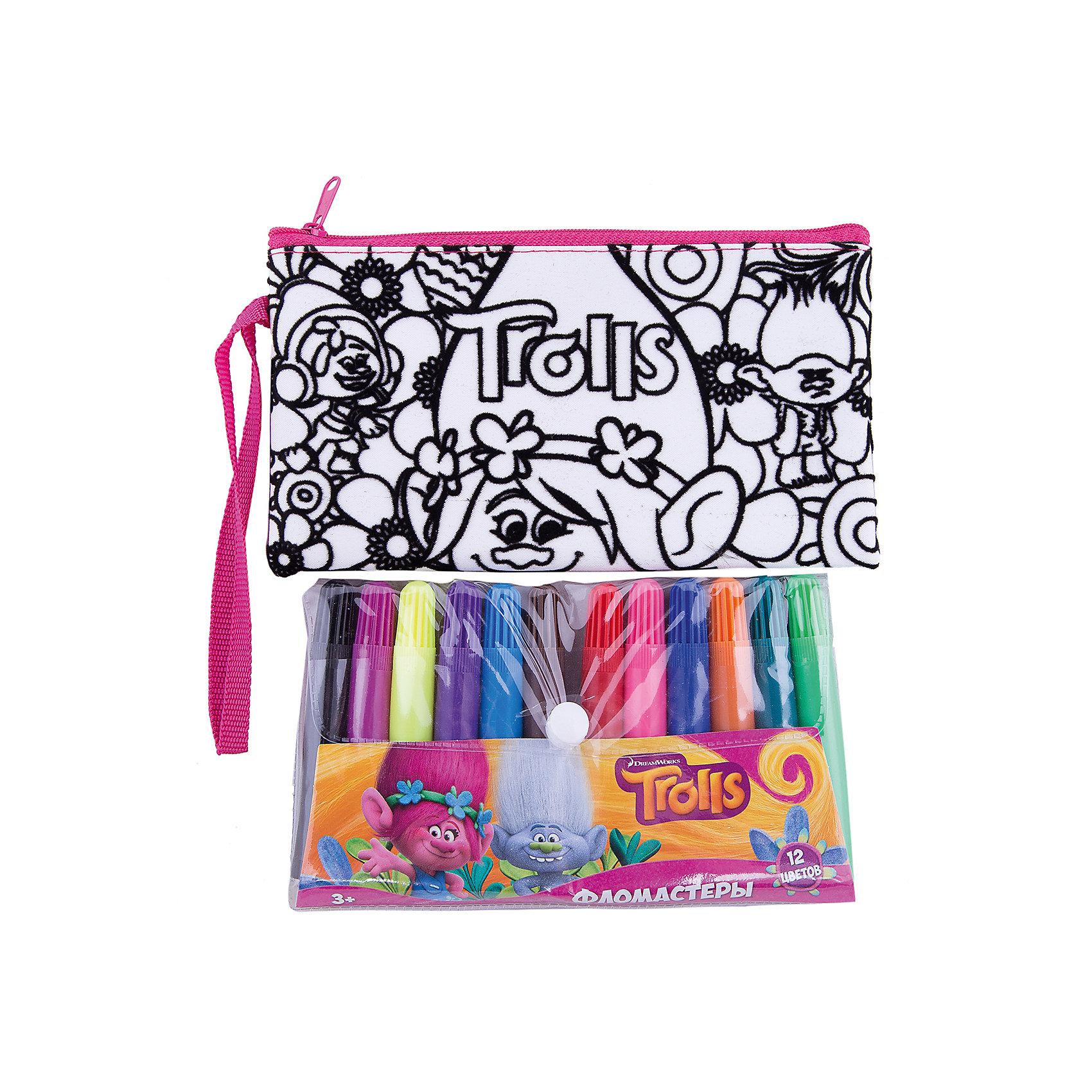 Набор Раскрась сумка Тролли.Наборы для раскрашивания<br>Набор Раскрась сумку Тролли.<br><br>Характеристики:<br><br>• В набор входит: сумка-пенал 19 * 10см, фломастеры 12 цветов<br>• Размер упаковки: 32 * 3 * 23,5 см.<br>• Вес: 200 г.<br>• Для детей в возрасте: от 3 до 6 лет<br>• Страна производитель: Китай<br><br>В набор входят яркие фломастеры двенадцати классических цветов, которые позволят раскрасить сумочку-пенал на своё усмотрение. Мягкая и функциональная сумочка с одним общим отделением на молнии подойдёт как для учебных принадлежностей, так и для повседневных мелочей. Удобная прочная ручка-ремешок позволяет носить сумочку как будет удобнее её хозяйке.<br><br>Набор Раскрась сумку Тролли можно купить в нашем интернет-магазине.<br><br>Ширина мм: 30<br>Глубина мм: 235<br>Высота мм: 320<br>Вес г: 200<br>Возраст от месяцев: 36<br>Возраст до месяцев: 2147483647<br>Пол: Женский<br>Возраст: Детский<br>SKU: 5478269