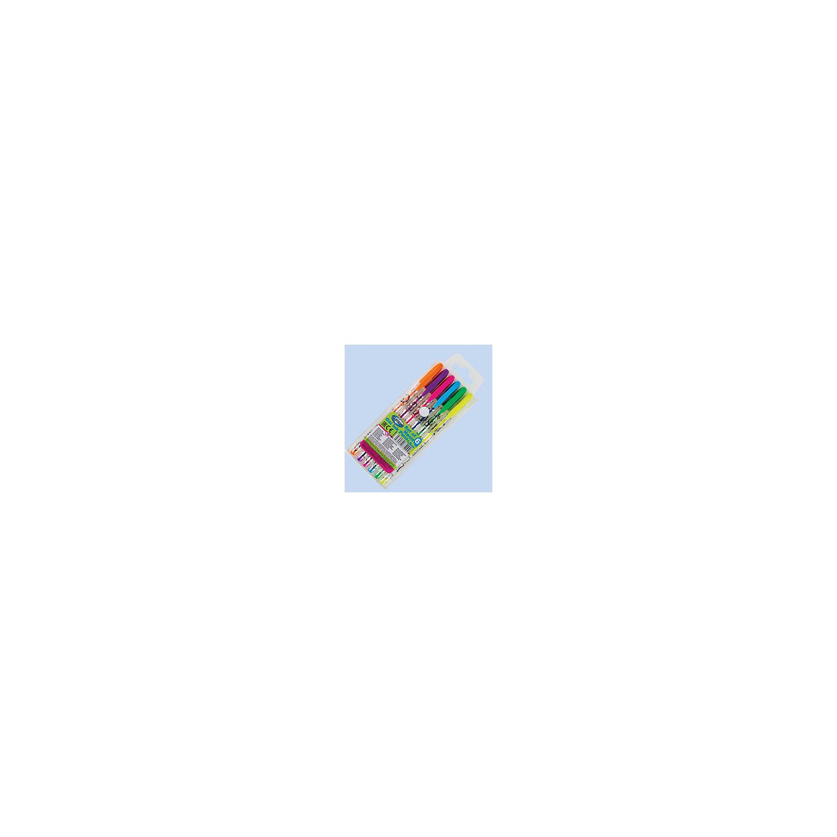 Набор гелевых ручек.NEON 6 цветов, 1,0ммПисьменные принадлежности<br>Набор гелевых ручек. NEON 6 цветов, 1,0 мм<br><br>Характеристики:<br><br>• Особенности: яркие, неоновые цвета<br>• Размер: 17,5 * 1,5 * 6,8 см.<br>• Вес: 44 гр.<br>• Страна производитель: Россия<br><br>Ручки удобно ложатся в руку и отлично пишут без дополнительного нажатия. Ширина стержня составляет 1 мм. Яркие, неоновые цвета пишут чётко и не смазываются. В набор вошли салатовый, жёлтый, оранжевый, розовый, фиолетовый и голубой цвета.<br><br>Набор гелевых ручек.NEON 6 цветов, 1,0 мм можно купить в нашем интернет-магазине.<br><br>Ширина мм: 15<br>Глубина мм: 68<br>Высота мм: 175<br>Вес г: 44<br>Возраст от месяцев: 36<br>Возраст до месяцев: 2147483647<br>Пол: Унисекс<br>Возраст: Детский<br>SKU: 5478290