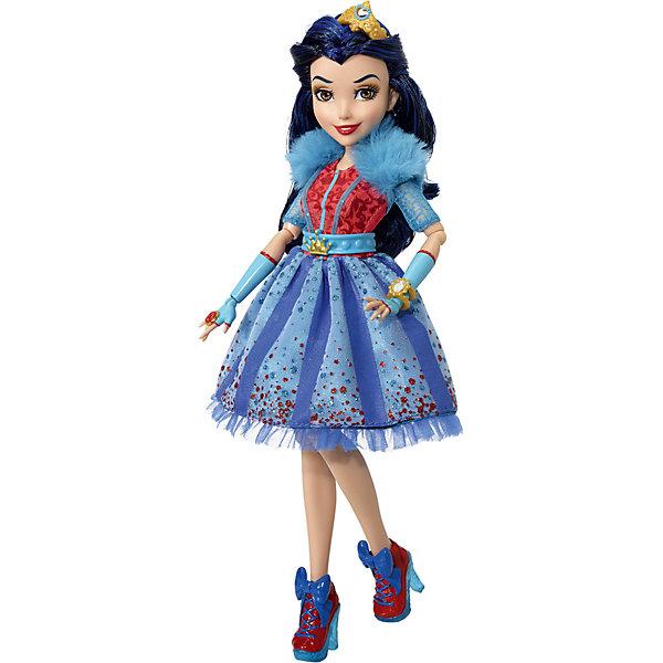 Кукла Наследники Дисней Иви, Неоновые огниКуклы<br>Характеристики товара:<br><br>• возраст: от 6 лет;<br>• материал: пластик, текстиль;<br>• в комплекте: кукла, наряд, аксессуары;<br>• тип батареек: 3 батарейки А76;<br>• наличие батареек: в комплекте;<br>• высота куклы: 28 см;<br>• размер упаковки: 33х25х6 см;<br>• вес упаковки: 400 гр.;<br>• страна производитель: Китай.<br><br>Кукла «Наследники Дисней. Неоновые огни» Hasbro - героиня известного мультфильма про наследников главных злодеев Дисней. Иви — дочка Злой Королевы, она любит колдовать и стильно одеваться.<br><br>На кукле одето яркое платье с неоновыми вставками, которые светятся в темноте. Такие аксессуары, как корона, браслет и кольцо дополняют модный образ Иви.<br><br>Куклу «Наследники Дисней. Неоновые огни» Hasbro можно приобрести в нашем интернет-магазине.<br>Ширина мм: 261; Глубина мм: 261; Высота мм: 342; Вес г: 393; Возраст от месяцев: 36; Возраст до месяцев: 120; Пол: Женский; Возраст: Детский; SKU: 5478313;