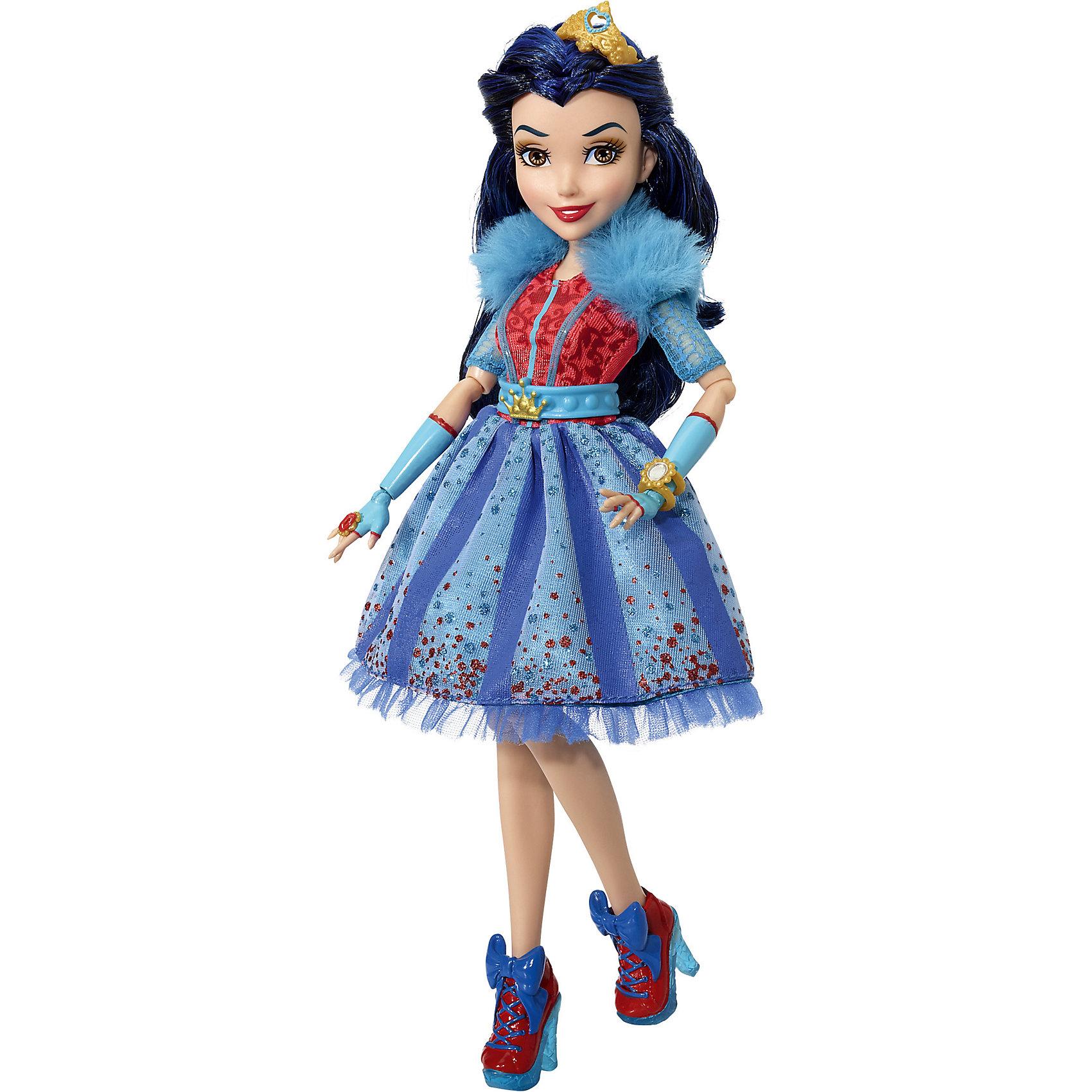Кукла Наследники Дисней Иви, Неоновые огниБренды кукол<br>Характеристики товара:<br><br>• возраст: от 6 лет;<br>• материал: пластик, текстиль;<br>• в комплекте: кукла, наряд, аксессуары;<br>• тип батареек: 3 батарейки А76;<br>• наличие батареек: в комплекте;<br>• высота куклы: 28 см;<br>• размер упаковки: 33х25х6 см;<br>• вес упаковки: 400 гр.;<br>• страна производитель: Китай.<br><br>Кукла «Наследники Дисней. Неоновые огни» Hasbro - героиня известного мультфильма про наследников главных злодеев Дисней. Иви — дочка Злой Королевы, она любит колдовать и стильно одеваться.<br><br>На кукле одето яркое платье с неоновыми вставками, которые светятся в темноте. Такие аксессуары, как корона, браслет и кольцо дополняют модный образ Иви.<br><br>Куклу «Наследники Дисней. Неоновые огни» Hasbro можно приобрести в нашем интернет-магазине.<br><br>Ширина мм: 261<br>Глубина мм: 261<br>Высота мм: 342<br>Вес г: 393<br>Возраст от месяцев: 36<br>Возраст до месяцев: 120<br>Пол: Женский<br>Возраст: Детский<br>SKU: 5478313