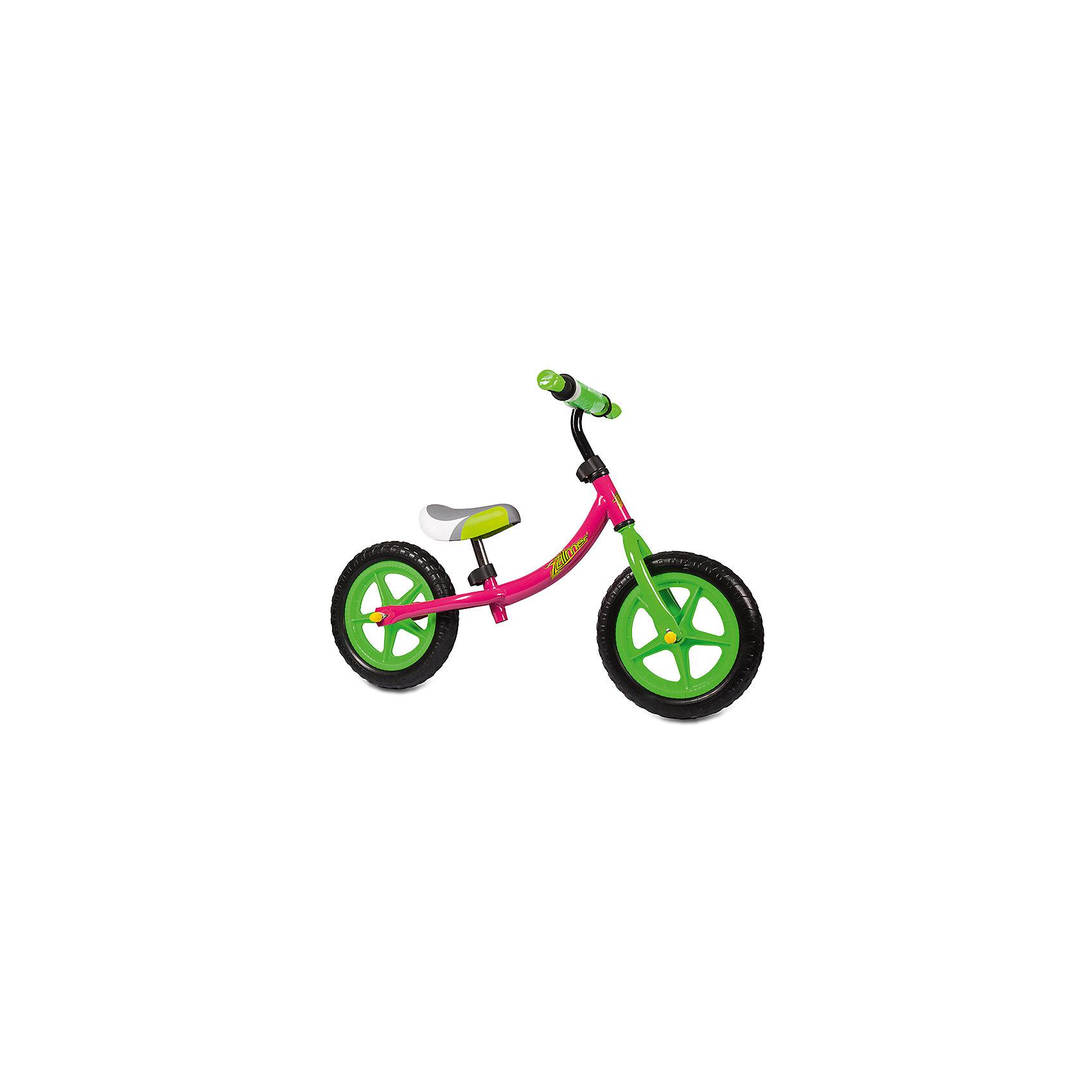 Беговел Голден Люкс, с регулируемой рамой, розовый, ZilmerБеговелы<br>Характеристики товара:<br><br>• материал: металл<br>• цвет: розовый<br>• диаметр колес: 12<br>• материал колес: EVA<br>• удобный руль с мягкой накладкой<br>• безопасные ручки<br>• регулируемая рама<br>• надежные материалы<br>• рама регулируется<br>• беговел растет с ребенком<br>• продуманная конструкция<br>• яркий цвет<br>• возраст: от 2 лет<br>• размер: 58x31x15 см<br>• вес: 2 кг<br>• страна производства: Китай<br><br>Подарить малышу такой беговел - значит, помочь развитию ребенка. Он способствует скорейшему развитию способности ориентироваться в пространстве, умению держать равновесие, развивает логику, мышление и ловкость. Помимо этого, кататься на нём - очень увлекательное занятие!<br><br>Беговел разработан специально для малышей, которым еще рано осваивать велосипед. Он чем-то похож на самокат: нужно отталкиваться от пола ногами, педалей нет. С помощью ручек малыши легко удержат равновесие. Данная модель выполнена в ярком дизайне, отличается продуманной конструкцией и деталями, которые обеспечивают безопасность ребенка. Отличный подарок для активного малыша!<br><br>Беговел Голден Люкс, с регулируемой рамой, розовый, от бренда Zilmer можно купить в нашем интернет-магазине.<br><br>Ширина мм: 580<br>Глубина мм: 150<br>Высота мм: 310<br>Вес г: 3900<br>Возраст от месяцев: 12<br>Возраст до месяцев: 36<br>Пол: Женский<br>Возраст: Детский<br>SKU: 5478505