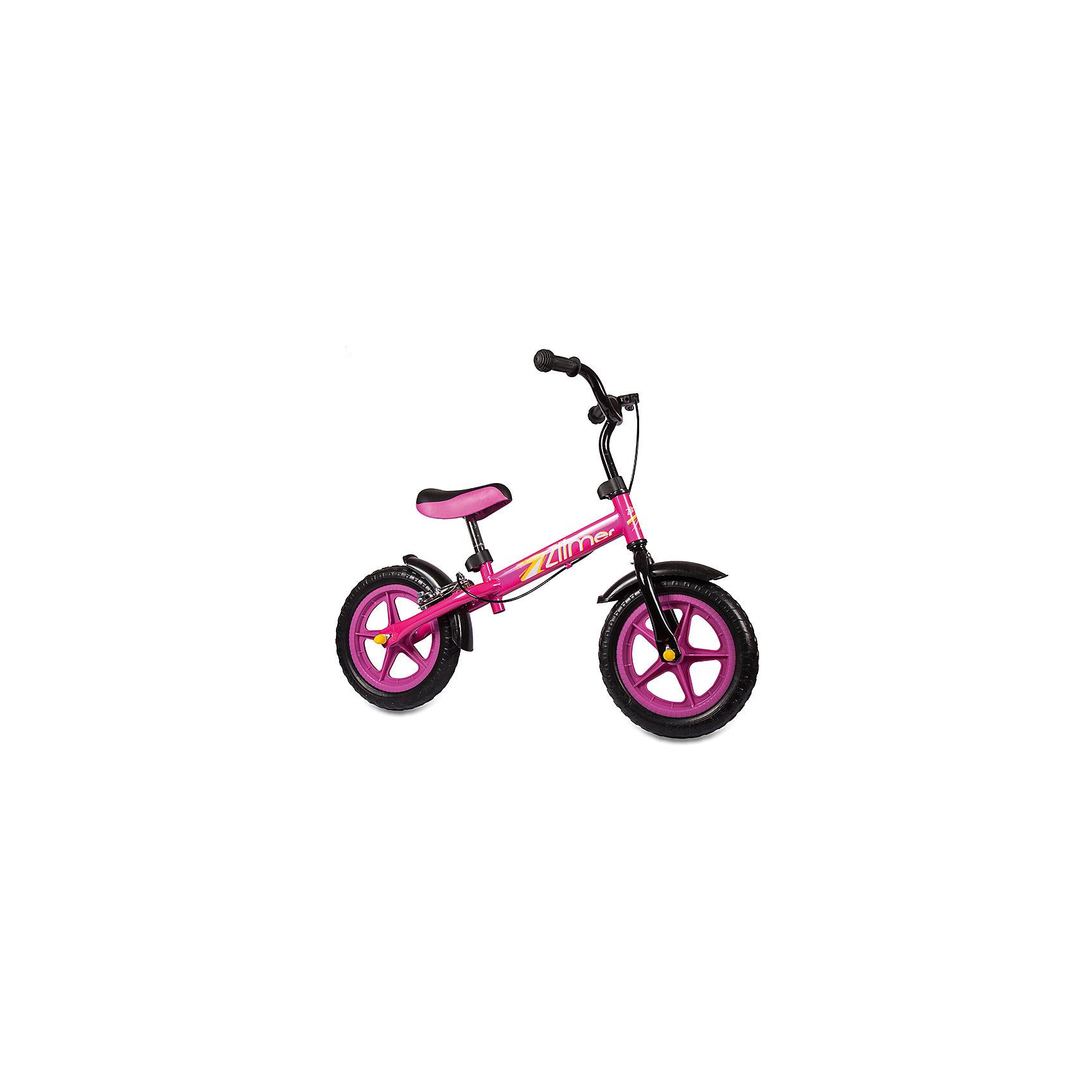 Беговел Голден Люкс, с ручным тормозом, розовый, ZilmerБеговелы<br>Характеристики товара:<br><br>• материал: металл<br>• цвет: розовый<br>• диаметр колес: 12<br>• материал колес: EVA<br>• удобный руль с мягкой накладкой<br>• безопасные ручки<br>• регулируемая рама<br>• надежные материалы<br>• ручной тормоз<br>• беговел растет с ребенком<br>• продуманная конструкция<br>• яркий цвет<br>• возраст: от 2 лет<br>• размер: 58x31x15 см<br>• вес: 2 кг<br>• страна производства: Китай<br><br>Подарить малышу такой беговел - значит, помочь развитию ребенка. Он способствует скорейшему развитию способности ориентироваться в пространстве, умению держать равновесие, развивает логику, мышление и ловкость. Помимо этого, кататься на нём - очень увлекательное занятие!<br><br>Беговел разработан специально для малышей, которым еще рано осваивать велосипед. Он чем-то похож на самокат: нужно отталкиваться от пола ногами, педалей нет. С помощью ручек малыши легко удержат равновесие. Данная модель выполнена в ярком дизайне, отличается продуманной конструкцией и деталями, которые обеспечивают безопасность ребенка. Отличный подарок для активного малыша!<br><br>Беговел Голден Люкс, с ручным тормозом, розовый, от бренда Zilmer можно купить в нашем интернет-магазине.<br><br>Ширина мм: 580<br>Глубина мм: 150<br>Высота мм: 310<br>Вес г: 4300<br>Возраст от месяцев: 12<br>Возраст до месяцев: 36<br>Пол: Женский<br>Возраст: Детский<br>SKU: 5478506