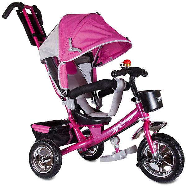Трехколесный велосипед Бронз Люкс, розовый, ZilmerВелосипеды детские<br>Характеристики товара:<br><br>• материал: металл, полимер, текстиль<br>• цвет: розовый<br>• диаметр колес: переднее - 254 мм, задние - 203.3 мм<br>• блокировка колес<br>• удобный руль <br>• безопасные поручни<br>• управление ручкой для родителей<br>• подставка под ноги<br>• корзинка<br>• материал колес: EVA<br>• надежные материалы<br>• ручной тормоз<br>• козырек<br>• продуманная конструкция<br>• яркий цвет<br>• возраст: от 12 мес<br>• размер: 75x46x25 см<br>• вес: 9 кг<br>• страна производства: Китай<br><br>Подарить родителям и малышу такой велосипед - значит, помочь развитию ребенка. Он способствует скорейшему развитию способности ориентироваться в пространстве, развивает физические способности, мышление и ловкость. Помимо этого, кататься на нём - очень увлекательное занятие!<br><br>Этот велосипед разработан специально для малышей. Он чем-то похож на коляску: есть родительская ручка и специальные подставки под ножки. С помощью ручки родители легко координируют направление движения. Данная модель выполнена в ярком дизайне, отличается продуманной конструкцией и деталями, которые обеспечивают безопасность ребенка. Отличный подарок для активного малыша!<br><br>Трехколесный велосипед Бронз Люкс, розовый, от бренда Zilmer можно купить в нашем интернет-магазине.<br>Ширина мм: 580; Глубина мм: 280; Высота мм: 420; Вес г: 10000; Возраст от месяцев: 12; Возраст до месяцев: 36; Пол: Женский; Возраст: Детский; SKU: 5478509;