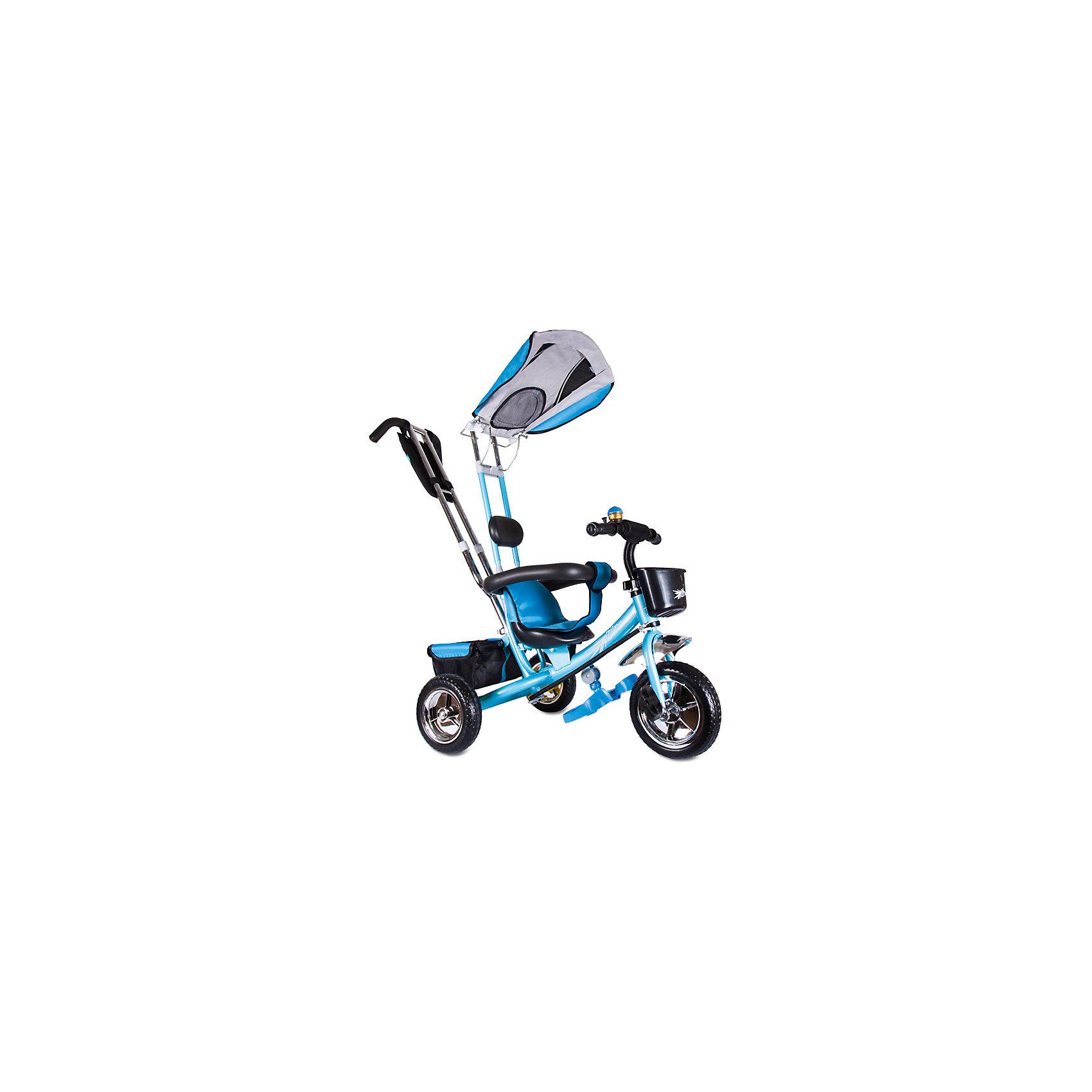 Трехколесный велосипед Бронз Люкс, голубой, ZilmerВелосипеды детские<br>Характеристики товара:<br><br>• материал: металл, полимер, текстиль<br>• цвет: голубой<br>• диаметр колес: переднее - 254 мм, задние - 203.3 мм<br>• блокировка колес<br>• удобный руль <br>• безопасные поручни<br>• управление ручкой для родителей<br>• подставка под ноги<br>• корзинка<br>• материал колес: EVA<br>• надежные материалы<br>• ручной тормоз<br>• козырек<br>• продуманная конструкция<br>• яркий цвет<br>• возраст: от 12 мес<br>• размер: 75x46x25 см<br>• вес: 9 кг<br>• страна производства: Китай<br><br>Подарить родителям и малышу такой велосипед - значит, помочь развитию ребенка. Он способствует скорейшему развитию способности ориентироваться в пространстве, развивает физические способности, мышление и ловкость. Помимо этого, кататься на нём - очень увлекательное занятие!<br><br>Этот велосипед разработан специально для малышей. Он чем-то похож на коляску: есть родительская ручка и специальные подставки под ножки. С помощью ручки родители легко координируют направление движения. Данная модель выполнена в ярком дизайне, отличается продуманной конструкцией и деталями, которые обеспечивают безопасность ребенка. Отличный подарок для активного малыша!<br><br>Трехколесный велосипед Бронз Люкс, голубой, от бренда Zilmer можно купить в нашем интернет-магазине.<br><br>Ширина мм: 590<br>Глубина мм: 280<br>Высота мм: 420<br>Вес г: 9700<br>Возраст от месяцев: 12<br>Возраст до месяцев: 36<br>Пол: Унисекс<br>Возраст: Детский<br>SKU: 5478510