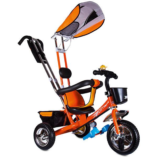 Трехколесный велосипед Бронз Люкс, оранжевый, ZilmerВелосипеды детские<br>Характеристики товара:<br><br>• материал: металл, полимер, текстиль<br>• цвет: оранжевый<br>• диаметр колес: переднее - 254 мм, задние - 203.3 мм<br>• блокировка колес<br>• удобный руль <br>• безопасные поручни<br>• управление ручкой для родителей<br>• подставка под ноги<br>• корзинка<br>• материал колес: EVA<br>• надежные материалы<br>• ручной тормоз<br>• козырек<br>• продуманная конструкция<br>• яркий цвет<br>• возраст: от 12 мес<br>• размер: 75x46x25 см<br>• вес: 9 кг<br>• страна производства: Китай<br><br>Подарить родителям и малышу такой велосипед - значит, помочь развитию ребенка. Он способствует скорейшему развитию способности ориентироваться в пространстве, развивает физические способности, мышление и ловкость. Помимо этого, кататься на нём - очень увлекательное занятие!<br><br>Этот велосипед разработан специально для малышей. Он чем-то похож на коляску: есть родительская ручка и специальные подставки под ножки. С помощью ручки родители легко координируют направление движения. Данная модель выполнена в ярком дизайне, отличается продуманной конструкцией и деталями, которые обеспечивают безопасность ребенка. Отличный подарок для активного малыша!<br><br>Трехколесный велосипед Бронз Люкс, оранжевый, от бренда Zilmer можно купить в нашем интернет-магазине.<br>Ширина мм: 590; Глубина мм: 280; Высота мм: 420; Вес г: 9700; Возраст от месяцев: 12; Возраст до месяцев: 36; Пол: Унисекс; Возраст: Детский; SKU: 5478512;