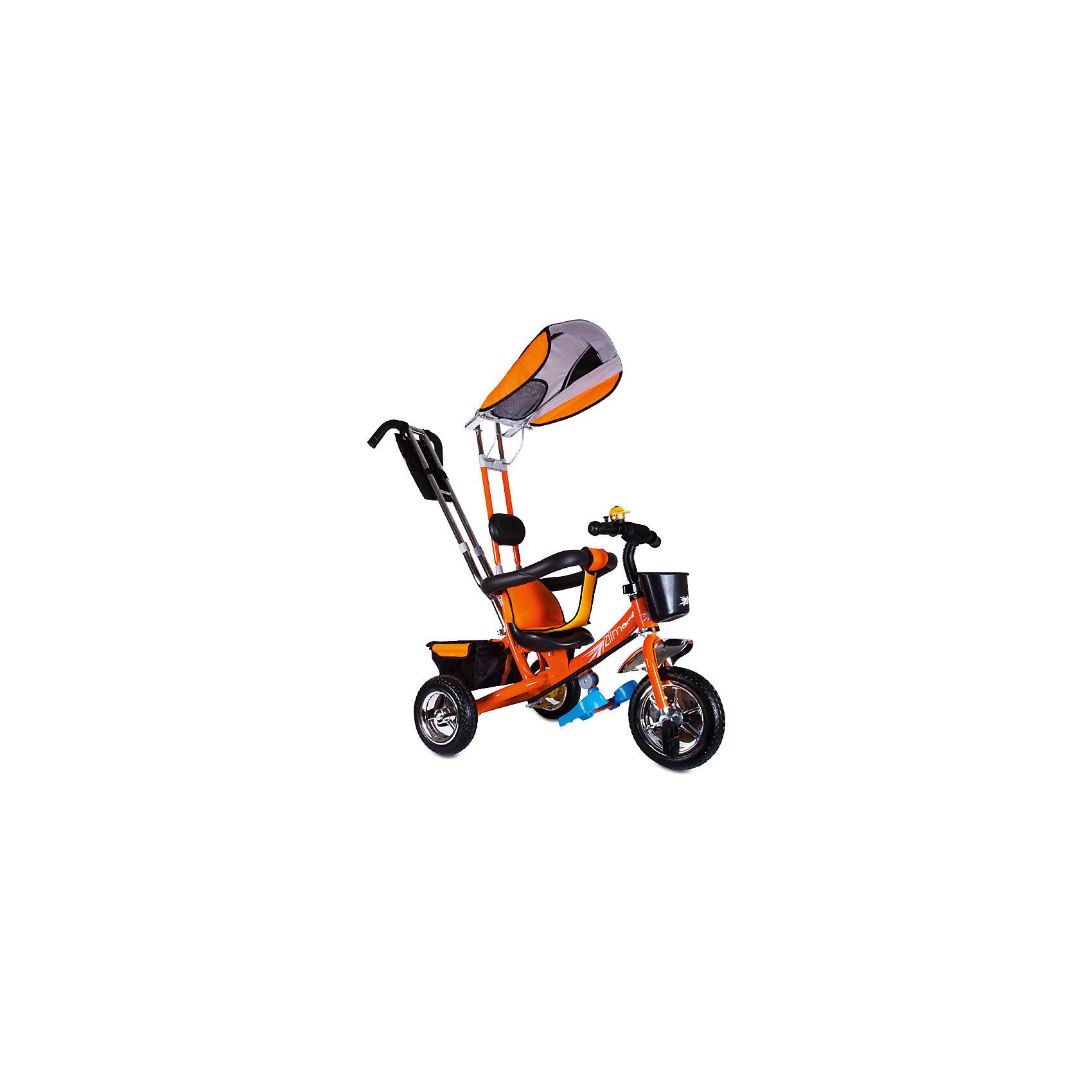 Трехколесный велосипед Бронз Люкс, оранжевый, ZilmerВелосипеды детские<br>Характеристики товара:<br><br>• материал: металл, полимер, текстиль<br>• цвет: оранжевый<br>• диаметр колес: переднее - 254 мм, задние - 203.3 мм<br>• блокировка колес<br>• удобный руль <br>• безопасные поручни<br>• управление ручкой для родителей<br>• подставка под ноги<br>• корзинка<br>• материал колес: EVA<br>• надежные материалы<br>• ручной тормоз<br>• козырек<br>• продуманная конструкция<br>• яркий цвет<br>• возраст: от 12 мес<br>• размер: 75x46x25 см<br>• вес: 9 кг<br>• страна производства: Китай<br><br>Подарить родителям и малышу такой велосипед - значит, помочь развитию ребенка. Он способствует скорейшему развитию способности ориентироваться в пространстве, развивает физические способности, мышление и ловкость. Помимо этого, кататься на нём - очень увлекательное занятие!<br><br>Этот велосипед разработан специально для малышей. Он чем-то похож на коляску: есть родительская ручка и специальные подставки под ножки. С помощью ручки родители легко координируют направление движения. Данная модель выполнена в ярком дизайне, отличается продуманной конструкцией и деталями, которые обеспечивают безопасность ребенка. Отличный подарок для активного малыша!<br><br>Трехколесный велосипед Бронз Люкс, оранжевый, от бренда Zilmer можно купить в нашем интернет-магазине.<br><br>Ширина мм: 590<br>Глубина мм: 280<br>Высота мм: 420<br>Вес г: 9700<br>Возраст от месяцев: 12<br>Возраст до месяцев: 36<br>Пол: Унисекс<br>Возраст: Детский<br>SKU: 5478512