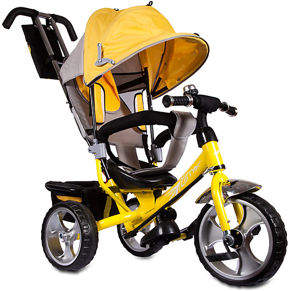 Трехколесный велосипед Сильвер Люкс, желтый, ZilmerВелосипеды детские<br>Характеристики товара:<br><br>• материал: металл, полимер, текстиль<br>• цвет: желтый<br>• диаметр колес: переднее - 304,8 мм (12 дюймов), задние - 254 мм (10 дюймов)<br>• блокировка колес<br>• удобный руль <br>• безопасные поручни<br>• управление ручкой для родителей<br>• подставка под ноги<br>• корзинка<br>• материал колес: EVA<br>• надежные материалы<br>• козырек<br>• продуманная конструкция<br>• яркий цвет<br>• возраст: от 12 мес<br>• размер: 68х28х36 см<br>• вес: 9 кг<br>• страна производства: Китай<br><br>Подарить родителям и малышу такой велосипед - значит, помочь развитию ребенка. Он способствует скорейшему развитию способности ориентироваться в пространстве, развивает физические способности, мышление и ловкость. Помимо этого, кататься на нём - очень увлекательное занятие!<br><br>Этот велосипед разработан специально для малышей. Он чем-то похож на коляску: есть родительская ручка и специальные подставки под ножки. С помощью ручки родители легко координируют направление движения. Данная модель выполнена в ярком дизайне, отличается продуманной конструкцией и деталями, которые обеспечивают безопасность ребенка. Отличный подарок для активного малыша!<br><br>Трехколесный велосипед Сильвер Люкс, желтый, от бренда Zilmer можно купить в нашем интернет-магазине.<br>Ширина мм: 625; Глубина мм: 380; Высота мм: 290; Вес г: 10000; Возраст от месяцев: 12; Возраст до месяцев: 36; Пол: Унисекс; Возраст: Детский; SKU: 5478514;