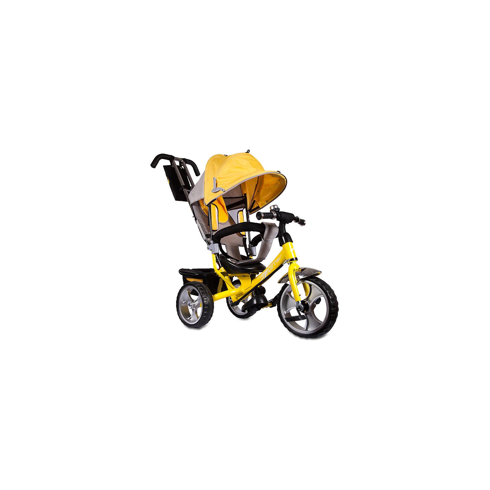 Трехколесный велосипед Сильвер Люкс, желтый, ZilmerХарактеристики товара:<br><br>• материал: металл, полимер, текстиль<br>• цвет: желтый<br>• диаметр колес: переднее - 304,8 мм (12 дюймов), задние - 254 мм (10 дюймов)<br>• блокировка колес<br>• удобный руль <br>• безопасные поручни<br>• управление ручкой для родителей<br>• подставка под ноги<br>• корзинка<br>• материал колес: EVA<br>• надежные материалы<br>• козырек<br>• продуманная конструкция<br>• яркий цвет<br>• возраст: от 12 мес<br>• размер: 68х28х36 см<br>• вес: 9 кг<br>• страна производства: Китай<br><br>Подарить родителям и малышу такой велосипед - значит, помочь развитию ребенка. Он способствует скорейшему развитию способности ориентироваться в пространстве, развивает физические способности, мышление и ловкость. Помимо этого, кататься на нём - очень увлекательное занятие!<br><br>Этот велосипед разработан специально для малышей. Он чем-то похож на коляску: есть родительская ручка и специальные подставки под ножки. С помощью ручки родители легко координируют направление движения. Данная модель выполнена в ярком дизайне, отличается продуманной конструкцией и деталями, которые обеспечивают безопасность ребенка. Отличный подарок для активного малыша!<br><br>Трехколесный велосипед Сильвер Люкс, желтый, от бренда Zilmer можно купить в нашем интернет-магазине.<br><br>Ширина мм: 625<br>Глубина мм: 380<br>Высота мм: 290<br>Вес г: 10000<br>Возраст от месяцев: 12<br>Возраст до месяцев: 36<br>Пол: Унисекс<br>Возраст: Детский<br>SKU: 5478514