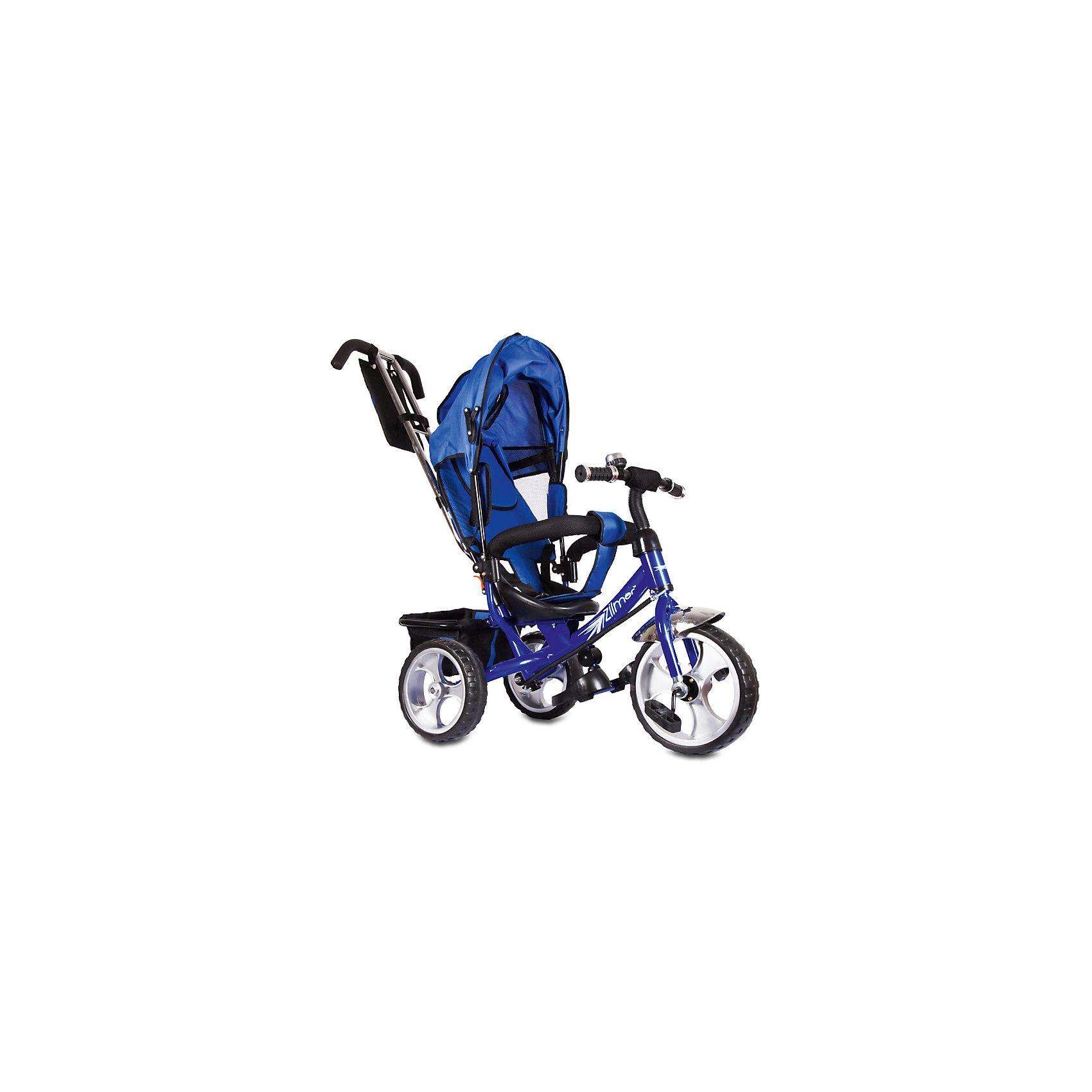 Трехколесный велосипед Сильвер Люкс, синий, ZilmerВелосипеды детские<br>Характеристики товара:<br><br>• материал: металл, полимер, текстиль<br>• цвет: синий<br>• диаметр колес: переднее - 304,8 мм (12 дюймов), задние - 254 мм (10 дюймов)<br>• блокировка колес<br>• удобный руль <br>• безопасные поручни<br>• управление ручкой для родителей<br>• подставка под ноги<br>• корзинка<br>• материал колес: EVA<br>• надежные материалы<br>• козырек<br>• продуманная конструкция<br>• яркий цвет<br>• возраст: от 12 мес<br>• размер: 68х28х36 см<br>• вес: 9 кг<br>• страна производства: Китай<br><br>Подарить родителям и малышу такой велосипед - значит, помочь развитию ребенка. Он способствует скорейшему развитию способности ориентироваться в пространстве, развивает физические способности, мышление и ловкость. Помимо этого, кататься на нём - очень увлекательное занятие!<br><br>Этот велосипед разработан специально для малышей. Он чем-то похож на коляску: есть родительская ручка и специальные подставки под ножки. С помощью ручки родители легко координируют направление движения. Данная модель выполнена в ярком дизайне, отличается продуманной конструкцией и деталями, которые обеспечивают безопасность ребенка. Отличный подарок для активного малыша!<br><br>Трехколесный велосипед Сильвер Люкс, синий, от бренда Zilmer можно купить в нашем интернет-магазине.<br><br>Ширина мм: 625<br>Глубина мм: 380<br>Высота мм: 290<br>Вес г: 10000<br>Возраст от месяцев: 12<br>Возраст до месяцев: 36<br>Пол: Мужской<br>Возраст: Детский<br>SKU: 5478515
