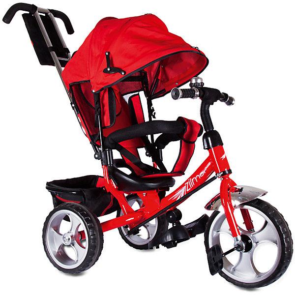 Трехколесный велосипед Сильвер Люкс, красный, ZilmerВелосипеды детские<br>Характеристики товара:<br><br>• материал: металл, полимер, текстиль<br>• цвет: красный<br>• диаметр колес: переднее - 304,8 мм (12 дюймов), задние - 254 мм (10 дюймов)<br>• блокировка колес<br>• удобный руль <br>• безопасные поручни<br>• управление ручкой для родителей<br>• подставка под ноги<br>• корзинка<br>• материал колес: EVA<br>• надежные материалы<br>• козырек<br>• продуманная конструкция<br>• яркий цвет<br>• возраст: от 12 мес<br>• размер: 68х28х36 см<br>• вес: 9 кг<br>• страна производства: Китай<br><br>Подарить родителям и малышу такой велосипед - значит, помочь развитию ребенка. Он способствует скорейшему развитию способности ориентироваться в пространстве, развивает физические способности, мышление и ловкость. Помимо этого, кататься на нём - очень увлекательное занятие!<br><br>Этот велосипед разработан специально для малышей. Он чем-то похож на коляску: есть родительская ручка и специальные подставки под ножки. С помощью ручки родители легко координируют направление движения. Данная модель выполнена в ярком дизайне, отличается продуманной конструкцией и деталями, которые обеспечивают безопасность ребенка. Отличный подарок для активного малыша!<br><br>Трехколесный велосипед Сильвер Люкс, красный, от бренда Zilmer можно купить в нашем интернет-магазине.<br>Ширина мм: 625; Глубина мм: 380; Высота мм: 29; Вес г: 10000; Возраст от месяцев: 12; Возраст до месяцев: 36; Пол: Унисекс; Возраст: Детский; SKU: 5478516;