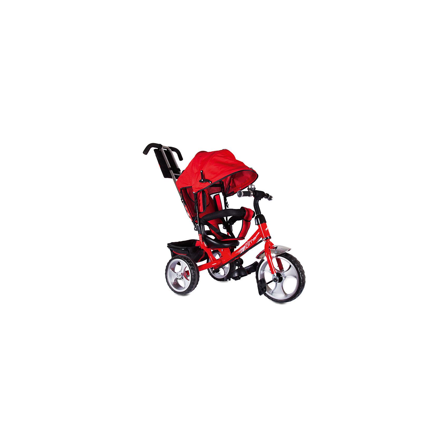 Трехколесный велосипед Сильвер Люкс, красный, ZilmerХарактеристики товара:<br><br>• материал: металл, полимер, текстиль<br>• цвет: красный<br>• диаметр колес: переднее - 304,8 мм (12 дюймов), задние - 254 мм (10 дюймов)<br>• блокировка колес<br>• удобный руль <br>• безопасные поручни<br>• управление ручкой для родителей<br>• подставка под ноги<br>• корзинка<br>• материал колес: EVA<br>• надежные материалы<br>• козырек<br>• продуманная конструкция<br>• яркий цвет<br>• возраст: от 12 мес<br>• размер: 68х28х36 см<br>• вес: 9 кг<br>• страна производства: Китай<br><br>Подарить родителям и малышу такой велосипед - значит, помочь развитию ребенка. Он способствует скорейшему развитию способности ориентироваться в пространстве, развивает физические способности, мышление и ловкость. Помимо этого, кататься на нём - очень увлекательное занятие!<br><br>Этот велосипед разработан специально для малышей. Он чем-то похож на коляску: есть родительская ручка и специальные подставки под ножки. С помощью ручки родители легко координируют направление движения. Данная модель выполнена в ярком дизайне, отличается продуманной конструкцией и деталями, которые обеспечивают безопасность ребенка. Отличный подарок для активного малыша!<br><br>Трехколесный велосипед Сильвер Люкс, красный, от бренда Zilmer можно купить в нашем интернет-магазине.<br><br>Ширина мм: 625<br>Глубина мм: 380<br>Высота мм: 29<br>Вес г: 10000<br>Возраст от месяцев: 12<br>Возраст до месяцев: 36<br>Пол: Унисекс<br>Возраст: Детский<br>SKU: 5478516