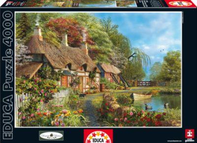 Пазл Дом в цветах , 4000 деталей, Educa фото-1