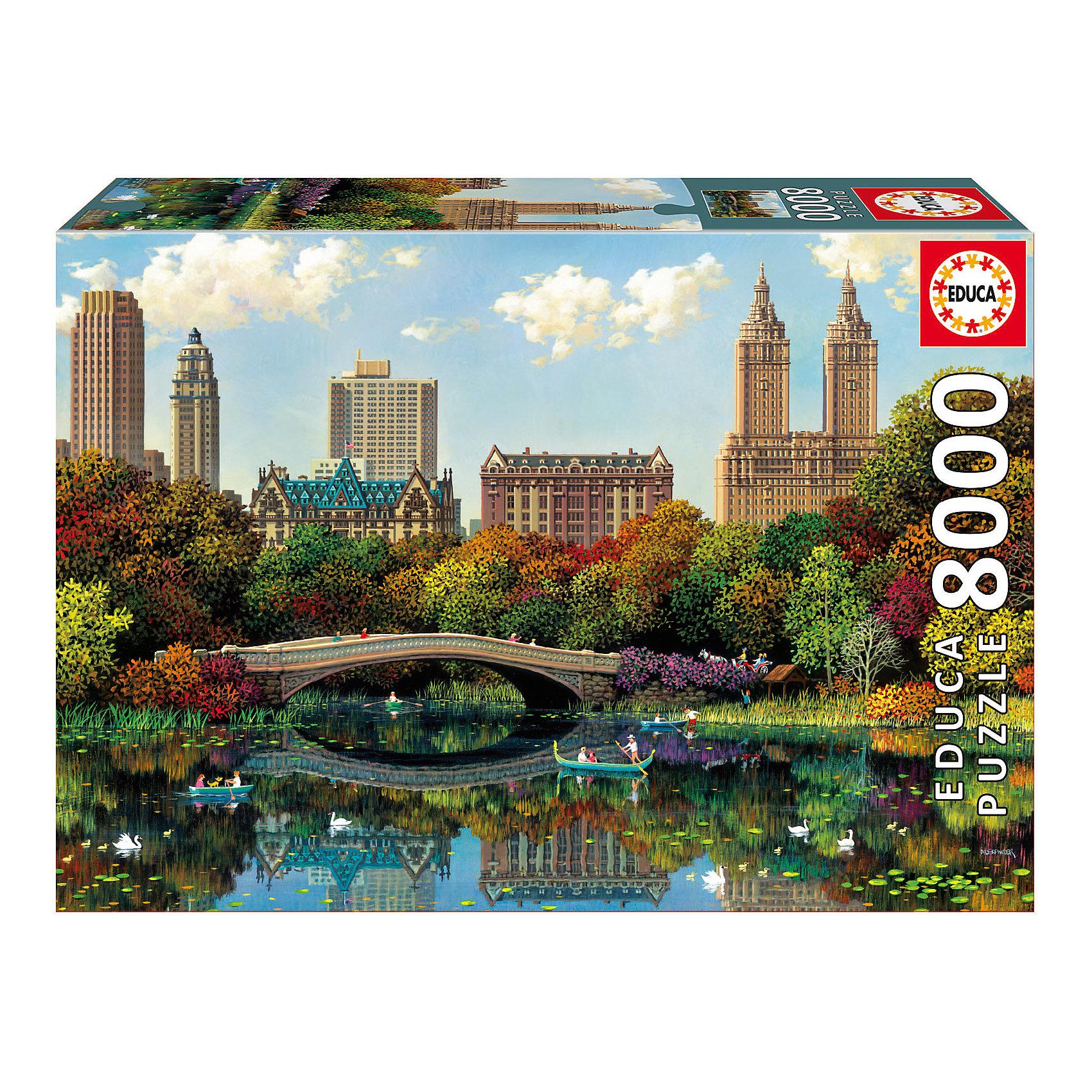 Пазл Центральный парк, 8000 деталей, EducaПазлы для детей постарше<br>Характеристики товара:<br><br>• возраст: от 3 лет;<br>• материал: картон;<br>• в комплекте: 8000 деталей;<br>• размер собранного пазла: 192х136 см;<br>• размер упаковки: 45,5х33,5х11,5 см;<br>• вес упаковки: 4,22 кг;<br>• страна производитель: Испания.<br><br>Пазл «Центральный парк» Educa позволит увлекательно провести дома время в компании семьи или друзей. На пазле изображен Центральный парк в Нью-Йорке. В процессе сборки пазла у детей развивается мелкая моторика рук, усидчивость, внимательность к деталям, логическое мышление.<br><br>Пазл «Центральный парк» Educa можно приобрести в нашем интернет-магазине.<br><br>Ширина мм: 455<br>Глубина мм: 320<br>Высота мм: 80<br>Вес г: 4250<br>Возраст от месяцев: 60<br>Возраст до месяцев: 2147483647<br>Пол: Унисекс<br>Возраст: Детский<br>SKU: 5478591
