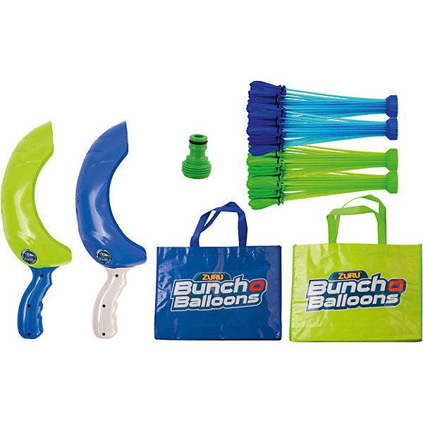 Супернабор на двух игроков: 140 шаров, Bunch O BalloonsИгрушечное оружие<br>Характеристики товара:<br><br>• возраст: от 3 лет;<br>• материал: резина;<br>• в комплекте: 140 шаров, 2 переходник для шланга, 2 пусковых устройства, 2 сумки;<br>• размер упаковки: 27,5х60х10 см;<br>• вес упаковки: 1,05 кг;<br>• страна производитель: Китай.<br><br>Супернабор на 2 игроков 140 шаров Bunch O Balloons — набор для метания шариками, наполненными водой, с которым можно весело провести время на свежем воздухе. Набор разработан специально для игры вдвоем. Пусковое устройство позволяет метать шарики на расстояние до 15 метров.<br><br>Все шарики связаны между собой и подсоединены к одной трубочке. Они заполняются водой через эту трубочку при помощи шланга или крана. Все шары заполняются водой одновременно. Затем связку шаров надо немного встряхнуть. Они отделятся от нее и уже готовы к метанию.<br><br>Супернабор на 2 игроков 140 шаров Bunch O Balloons можно приобрести в нашем интернет-магазине.<br>Ширина мм: 98; Глубина мм: 275; Высота мм: 600; Вес г: 1050; Возраст от месяцев: 36; Возраст до месяцев: 2147483647; Пол: Унисекс; Возраст: Детский; SKU: 5478825;