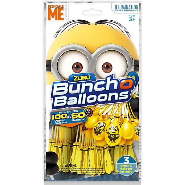 Стартовый набор Миньоны, 100 шаров, Bunch O BalloonsИгрушечное оружие<br>Характеристики товара:<br><br>• возраст: от 3 лет;<br>• материал: резина;<br>• в комплекте: 100 шаров, переходник для шланга;<br>• размер упаковки: 27х15х3 см;<br>• вес упаковки: 110 гр.;<br>• страна производитель: Китай;<br>• товар представлен в ассортименте.<br><br>Стартовый набор «Миньоны» 100 шаров Bunch O Balloons — набор для метания шариками, наполненными водой, с которым можно весело провести время на свежем воздухе. На каждом шарике изображены Миньоны - герои известного мультфильма.<br><br>Набор представляет собой связанные шарики и подсоединенные к одной трубочке. Они заполняются водой через эту трубочку при помощи шланга или крана. Все шары заполняются водой одновременно. Затем связку шаров надо немного встряхнуть. Они отделятся от нее и уже готовы к метанию.<br><br>Стартовый набор «Миньоны» 100 шаров Bunch O Balloons можно приобрести в нашем интернет-магазине.<br><br>Ширина мм: 285<br>Глубина мм: 154<br>Высота мм: 40<br>Вес г: 79<br>Возраст от месяцев: 36<br>Возраст до месяцев: 2147483647<br>Пол: Унисекс<br>Возраст: Детский<br>SKU: 5478828