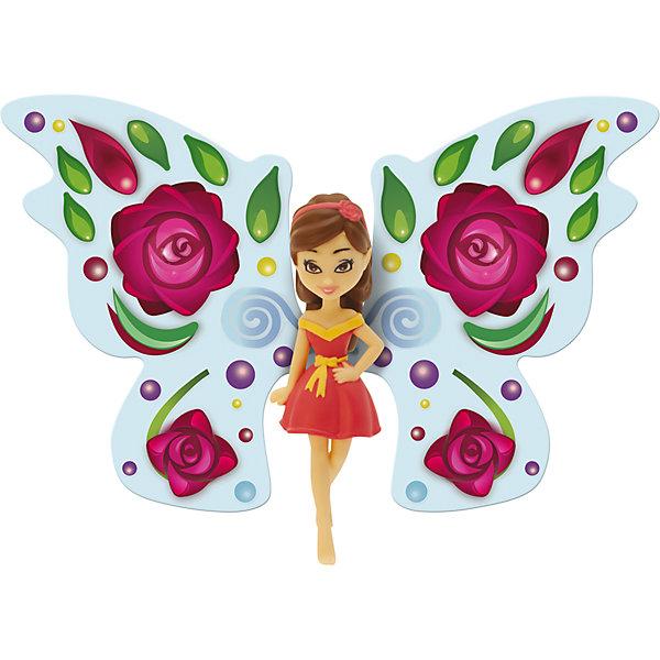 Игровой набор Волшебная дверь, Shimmer WingНаборы для создания украшений<br>Характеристики товара:<br><br>• возраст: от 5 лет;<br>• материал: пластик;<br>• в комплекте: кукла, подставка для куклы, крылья, домик, набор для декорирования;<br>• размер упаковки: 21х27х11 см;<br>• вес упаковки: 385 гр.;<br>• страна производитель: Китай.<br><br>Игровой набор «Волшебная дверь» Shimmer Wing включает в себя очаровательную фею Розу. Роза одета в розовое платье с желтым поясом. Живет фея в необычном домике. При нажатии на кнопку над дверью дверца домика откроется.<br><br>Дополняют образ феи яркие крылышки, которые девочке предстоит украсить самой с помощью наклеек, проявив фантазию и воображение. <br><br>Игровой набор «Волшебная дверь» Shimmer Wing можно приобрести в нашем интернет-магазине.<br>Ширина мм: 110; Глубина мм: 270; Высота мм: 210; Вес г: 562; Возраст от месяцев: 60; Возраст до месяцев: 2147483647; Пол: Женский; Возраст: Детский; SKU: 5478835;