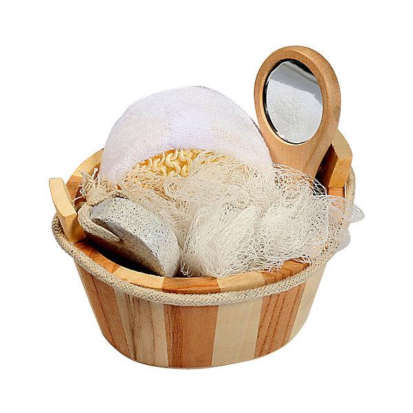 Набор для ванной и бани ЗеркалоТовары для купания<br>Характеристики набора для ванной и бани Зеркало:<br><br>• тип: банный комплект<br>• комплектация комплекта: лохань из древесины тополя (12,5х9х8,5 см) мочалка д/купания из сизаля, пемза д/ухода за кожей, мочалка д/купания из полиэтилена, зеркало на ручке из древесины павловнии (12.5*9*8.5 см.)<br>• состав: дерево 100%<br>• цвет: белый, бежевый<br>• сезон: круглогодичный<br>• страна бренда: Россия<br>• страна производитель: Китай<br><br>Набор для ванной и бани Зеркало в лохани из древесины тополя (мочалка для купания из сизаля, пемза для ухода за кожей, мочалка для купания из полиэтилена, зеркало на ручке из древесины павловнии). Набор станет прекрасным дополнением Вашей ванной комнаты.<br><br>Набор для ванной и бани Зеркало можно купить в нашем интернет-магазине.<br><br>Ширина мм: 90<br>Глубина мм: 90<br>Высота мм: 130<br>Вес г: 198<br>Возраст от месяцев: 36<br>Возраст до месяцев: 2147483647<br>Пол: Унисекс<br>Возраст: Детский<br>SKU: 5479412