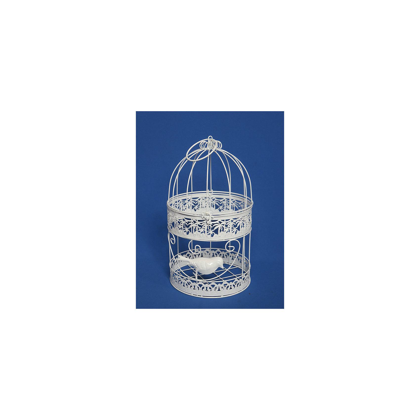 Клетка декоративная Белая птица из черного окрашенного металлаПредметы интерьера<br>Характеристики декоративной клетки Белая птица из черного окрашенного металла:<br><br>• комплектация: клетка<br>• тип: подвесное украшение<br>• состав: металл 100%<br>• габариты предмета: 8 х 8 х 14 см<br>• размер упаковки: 15х9х9см. <br>• страна бренда: Россия<br>• страна производитель: Китай<br><br>Декоративная клетка поможет создать дух прованса в интерьере. Как правило белые или окрашенные с эффектом состаривания декоративные клетки можно использовать как основу для цветочной композиции, декоративный подсвечник, место хранения любимых книг или почтовой корреспонденции, место для обитания суккулентов, люстру или ночник на прикроватной тумбочке, место для хранения антикварных вещиц или бижутерии и многое другое.<br><br>Клетку декоративную Белая птица из черного окрашенного металла можно купить в нашем интернет-магазине.<br><br>Ширина мм: 190<br>Глубина мм: 190<br>Высота мм: 340<br>Вес г: 468<br>Возраст от месяцев: 36<br>Возраст до месяцев: 2147483647<br>Пол: Унисекс<br>Возраст: Детский<br>SKU: 5479421