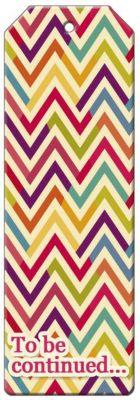 Феникс-Презент Закладка для книг декоративная Разноцветный зигзаг