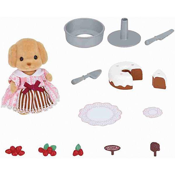 Набор Набор украшения тортиков, Sylvanian FamiliesSylvanian Families<br>Набор Набор украшения тортиков, Sylvanian Families.<br><br>Характеристики:<br><br>• Для детей от 4<br>• В наборе: фигурка пуделя, пресс-форма для торта, нож, лопаточка, торт, 2 тарелки, аксессуары для украшения торта (клубника, шоколад, табличка)<br>• Материал: пластик, текстиль<br>• Размер упаковки: 12,5х13х5 см.<br><br>Набор Набор украшения тортиков, Sylvanian Families привлечет внимание вашей девочки и не позволит ей скучать. С помощью предметов входящих в набор ваша малышка сможет приготовить торт, украсить его, так как подскажет ей фантазия, а затем отрезать от него кусочек и аккуратно разложить на тарелочки. <br><br>В набор входит фигурка пуделя, одетая в платье с фартуком. Фигурка бархатистая и приятная на ощупь. Одежда игрушки сшита из текстиля с качественными строчками и аккуратно обработанными швами. Голова, ручки и ножки у фигурки двигаются. Набор изготовлен из высококачественных гипоаллергенных материалов.<br><br>Sylvanian Families - это целый мир маленьких жителей, объединенных общей легендой. Жители страны Sylvanian Families - это кролики, белки, медведи, лисы и многие другие. У каждого из них есть дом, в котором есть все необходимое для счастливой жизни. <br><br>В городе, где живут герои, есть школа, больница, рынок, пекарня, детский сад и множество других полезных объектов. Жители этой страны живут семьями, в каждой из которой есть дети. В домах Sylvanian Families царит уют и гармония. Здесь продумана каждая мелочь, от одежды до мебели и аксессуаров.<br><br>Набор Набор украшения тортиков, Sylvanian Families можно купить в нашем интернет-магазине.<br><br>Ширина мм: 125<br>Глубина мм: 50<br>Высота мм: 130<br>Вес г: 82<br>Возраст от месяцев: 48<br>Возраст до месяцев: 96<br>Пол: Женский<br>Возраст: Детский<br>SKU: 5479449